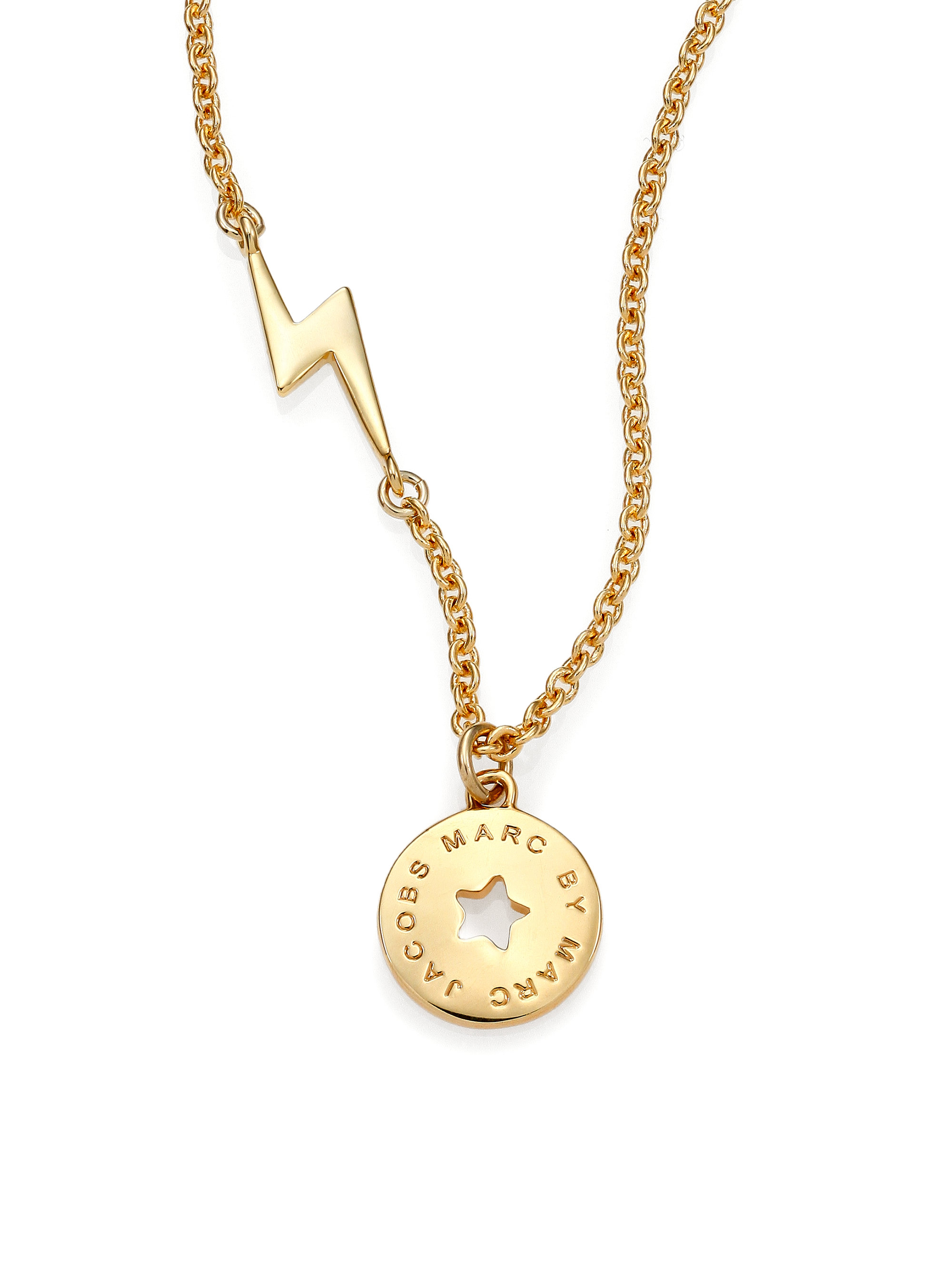 Marc By Marc Jacobs Lightning Amp Star Coin Pendant Necklace
