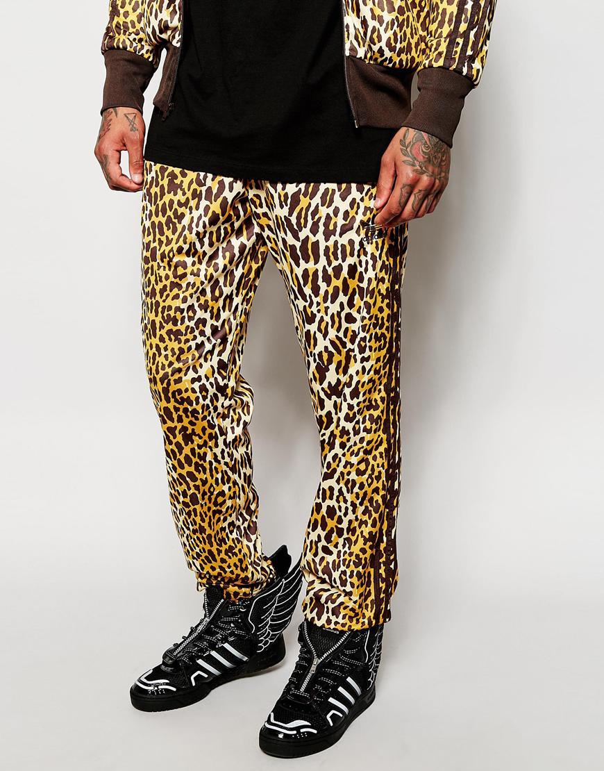 hot sale online 4597b 66c63 Lyst - adidas Originals X Jeremy Scott Leopard Track Pants in Brown ...