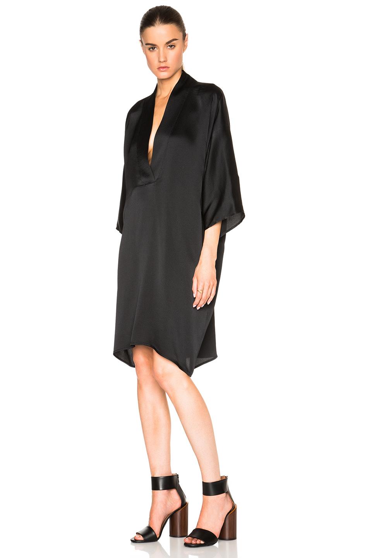 Nili lotan Kimono Dress in Black   Lyst