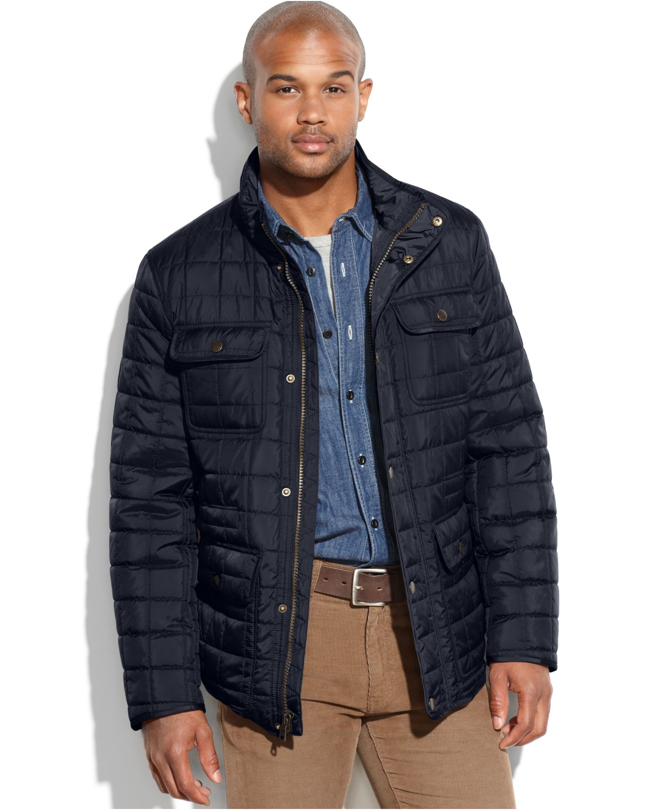 148c54680e5 Lyst - Tommy Hilfiger Big And Tall Quilted Four-Pocket Field Jacket ...