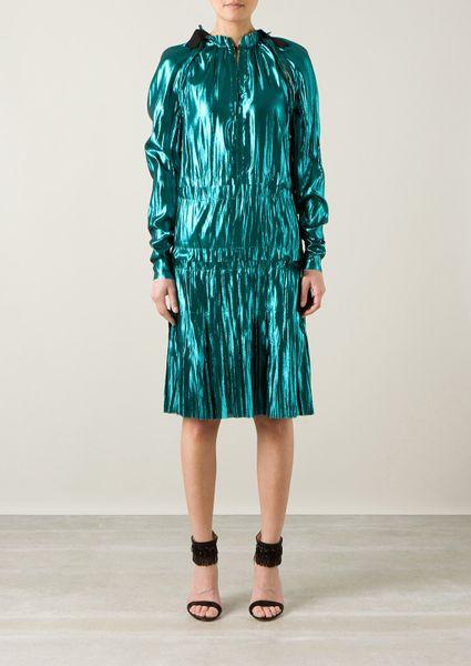 Lanvin Metallic Turquoise