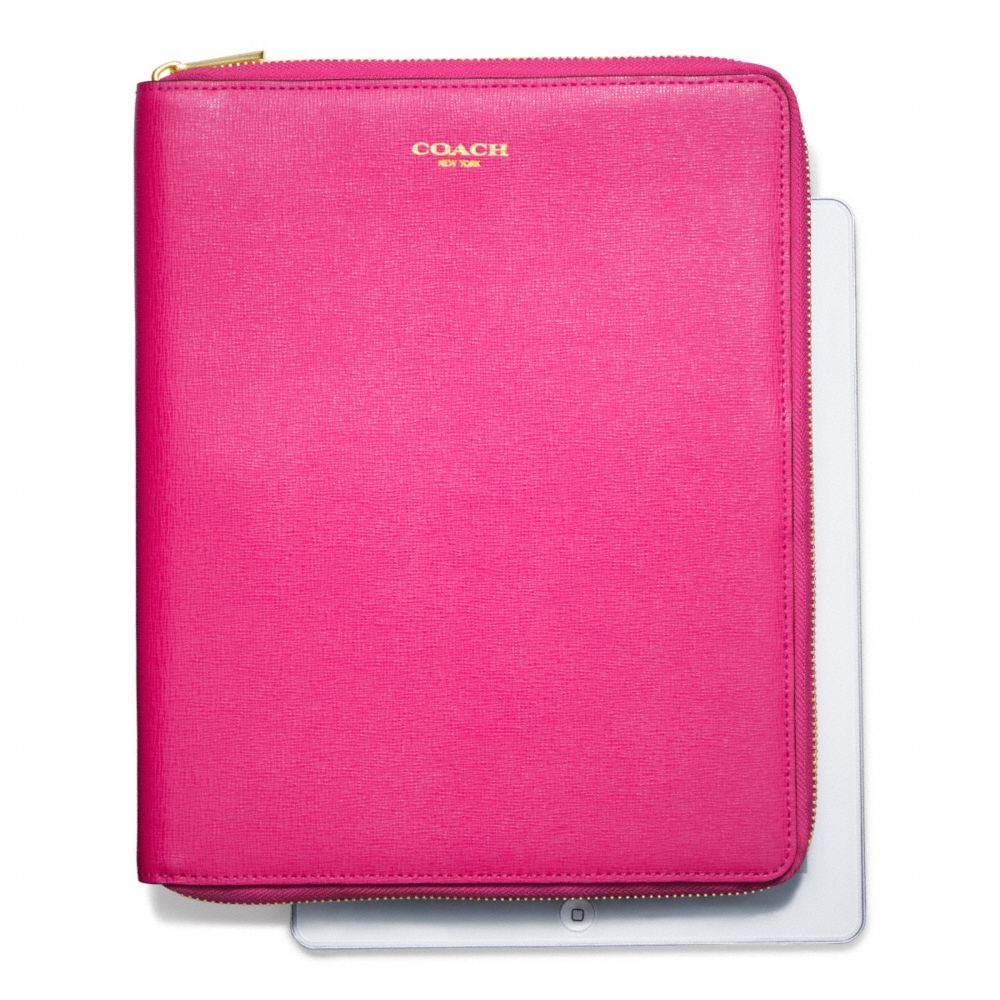 Lyst - Coach Zip Around Ipad Case In Saffiano Leather in Pink