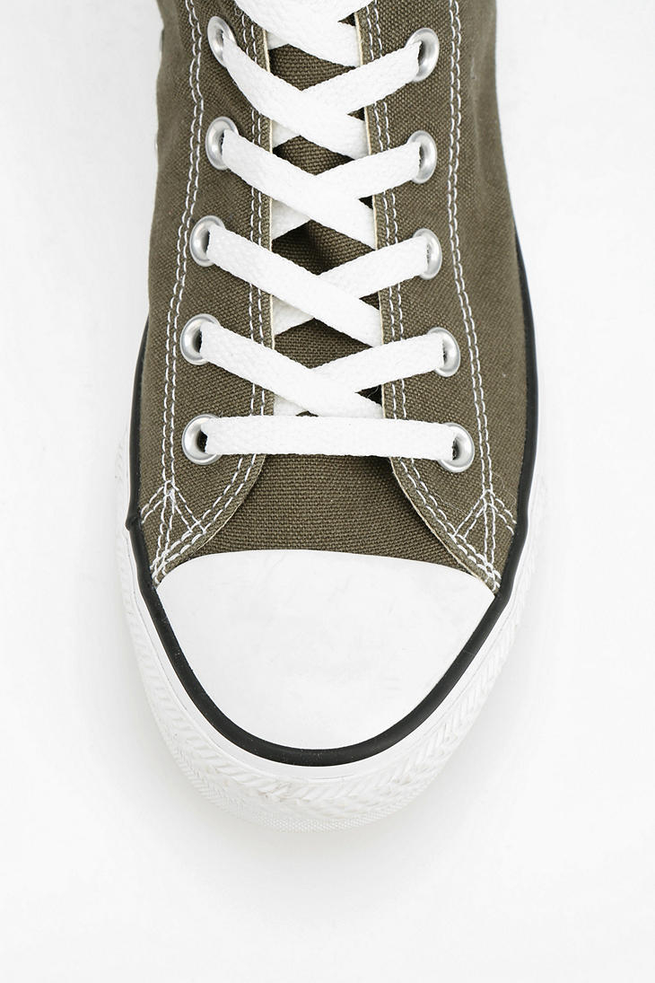 084679a75b0 Lyst - Converse Chuck Taylor All Star Womens Hightop Sneaker in Green