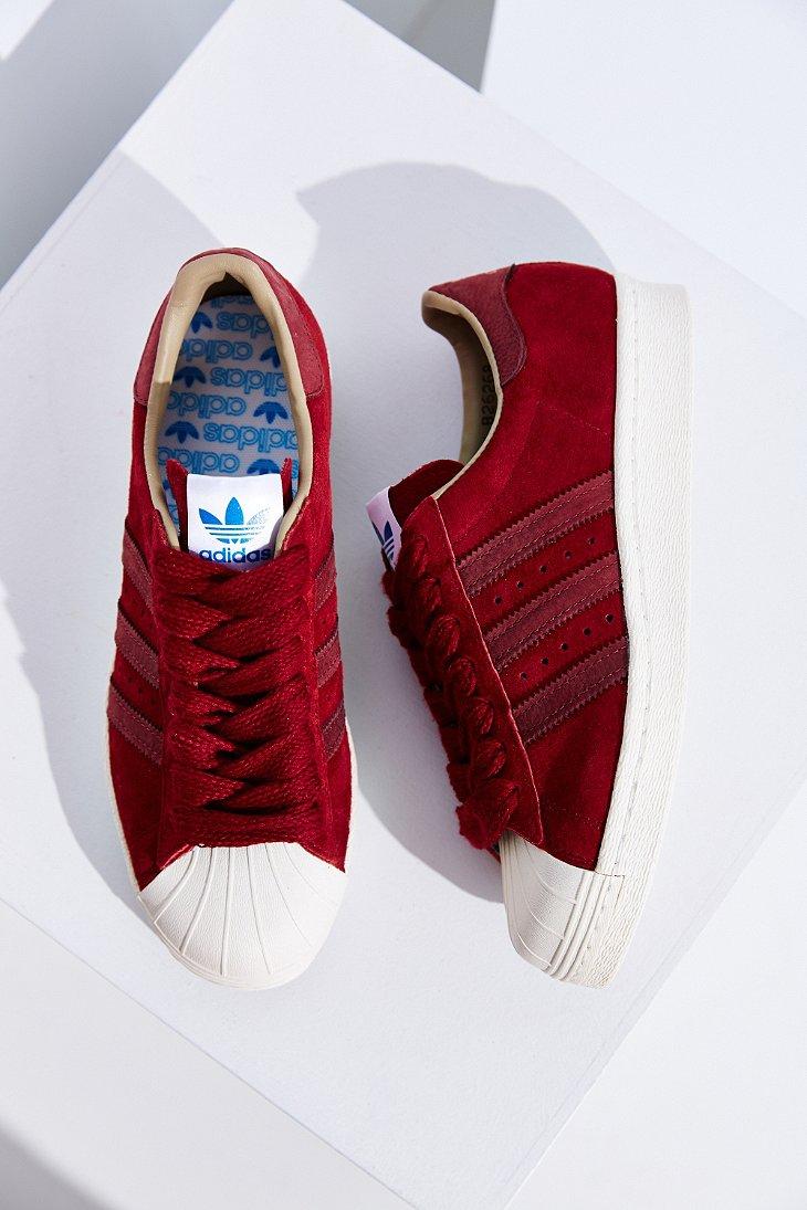 Lyst adidas superstar degli anni '80, scarpe da ginnastica in viola velluto originali.
