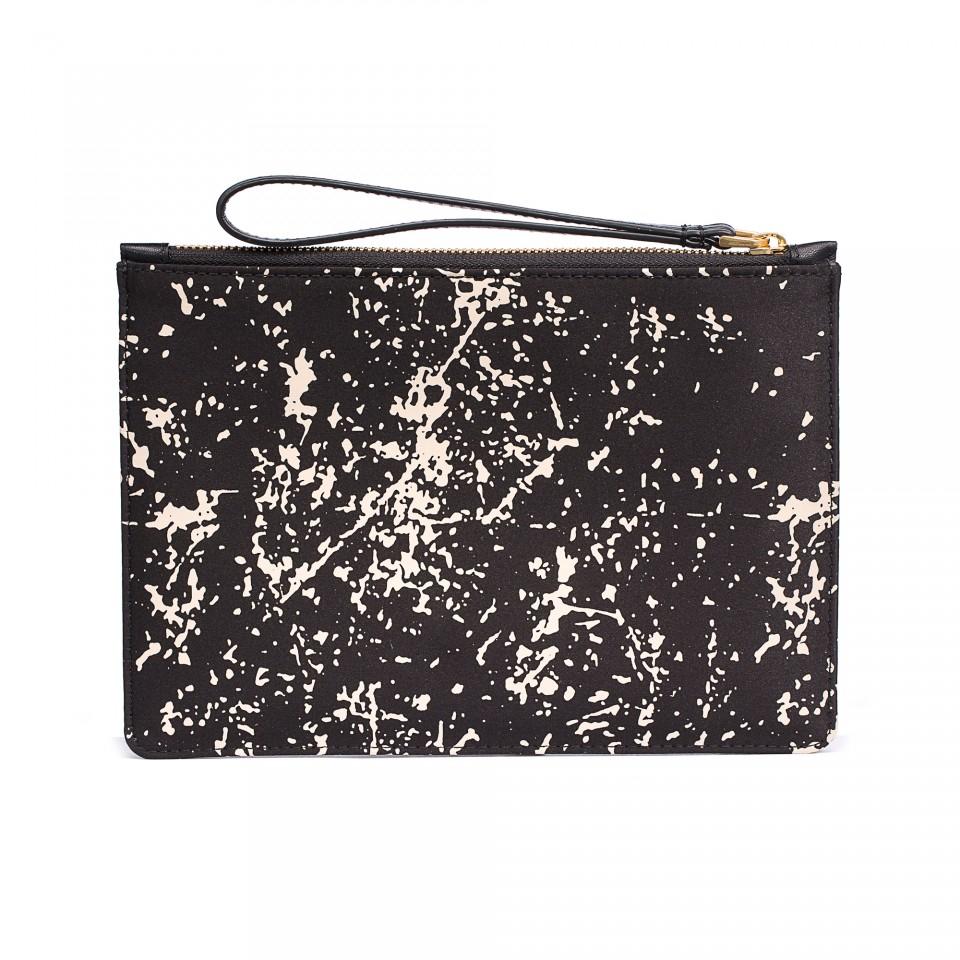Lyst lulu guinness floor print satin medium grace pouch for Floor print