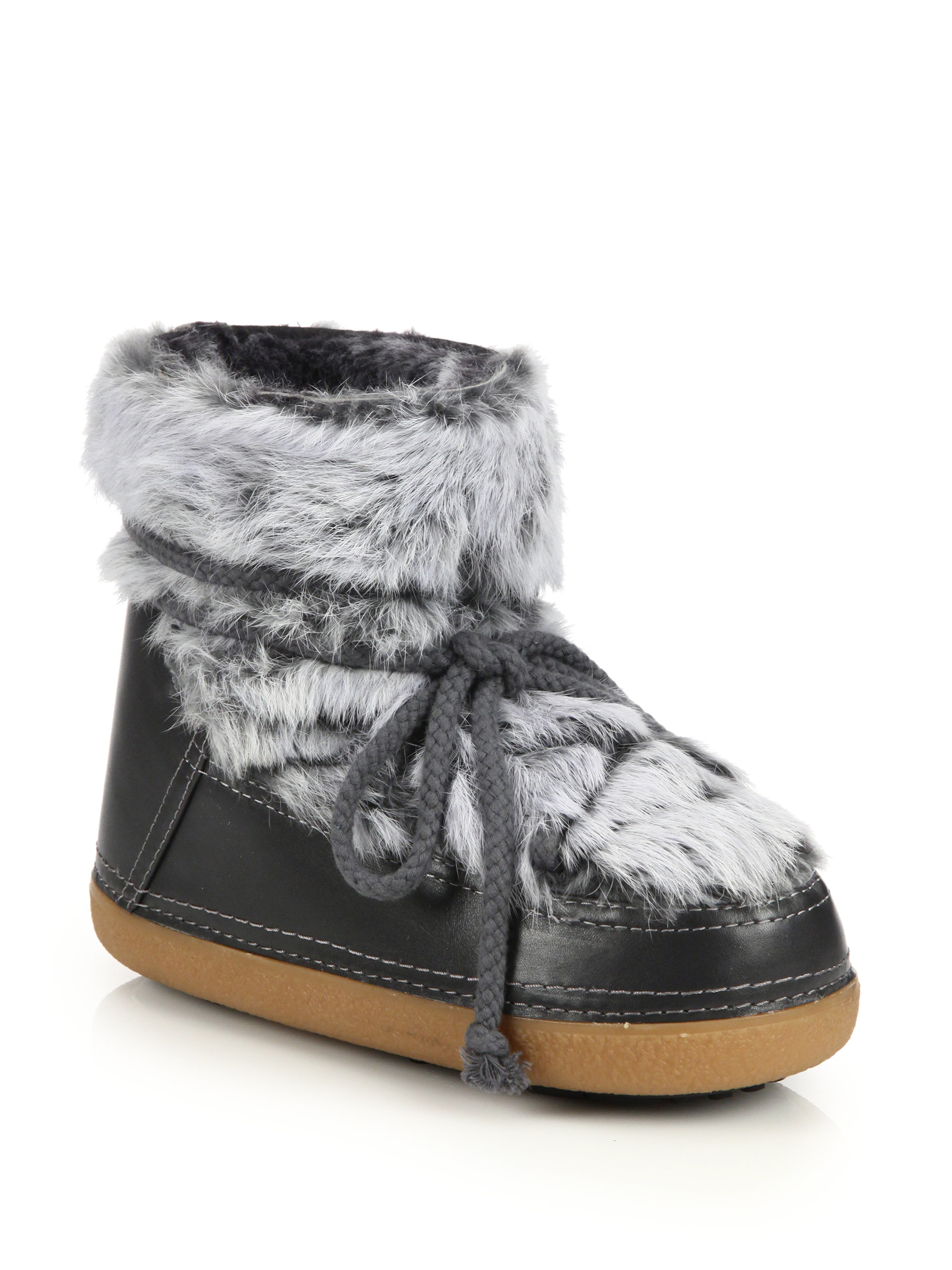 Rabbit Fur Boots Women S Shoes