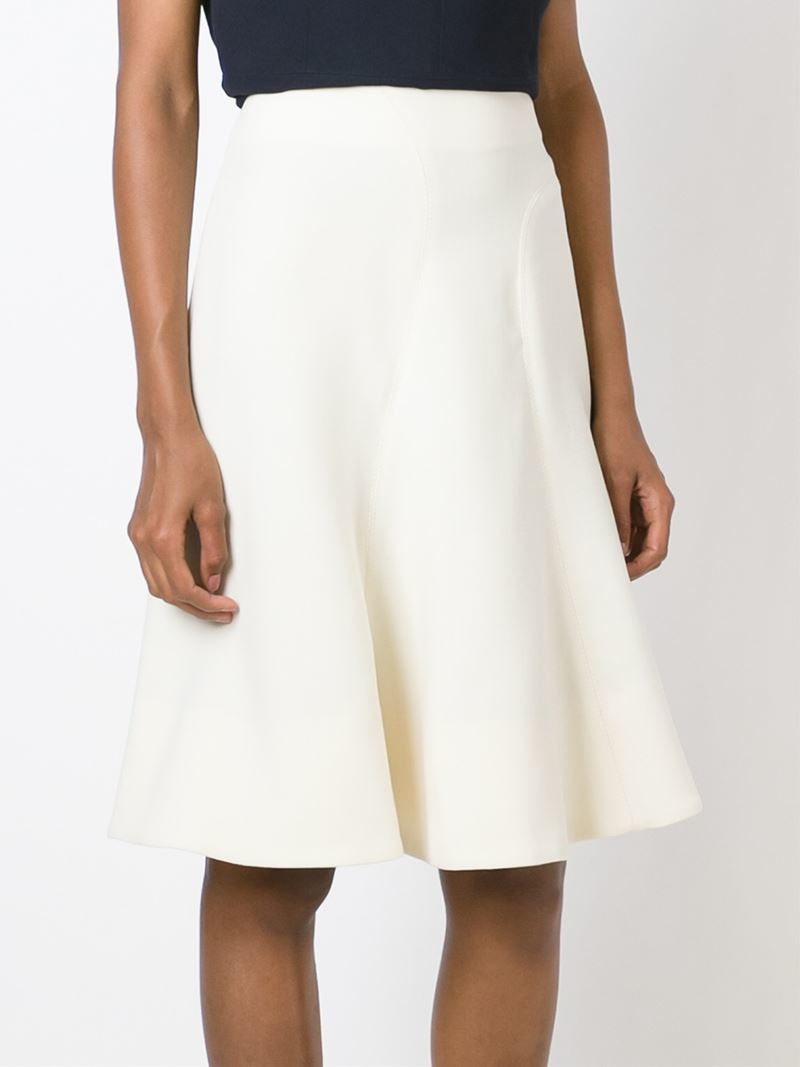 Marni Classic A-line Skirt in White | Lyst