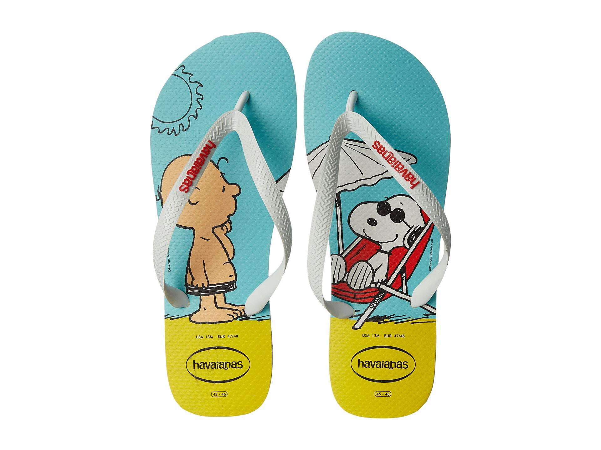 d1761ca2806f6 Lyst - Havaianas Snoopy Flip Flops in White