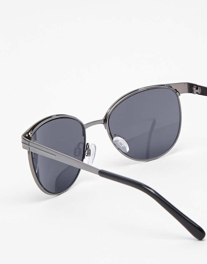 64b7dabef0 Lyst - ASOS Retro Sunglasses In Black With Metal Frame in Gray for Men