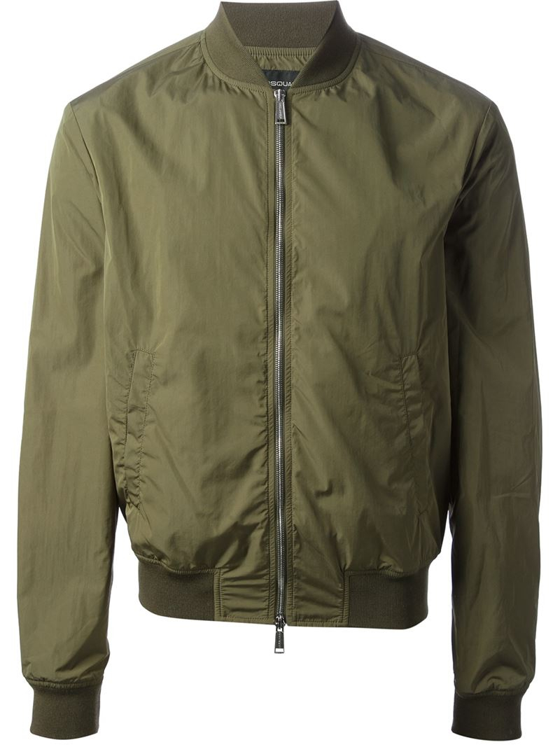Lyst Dsquared 178 Bomber Jacket In Green For Men