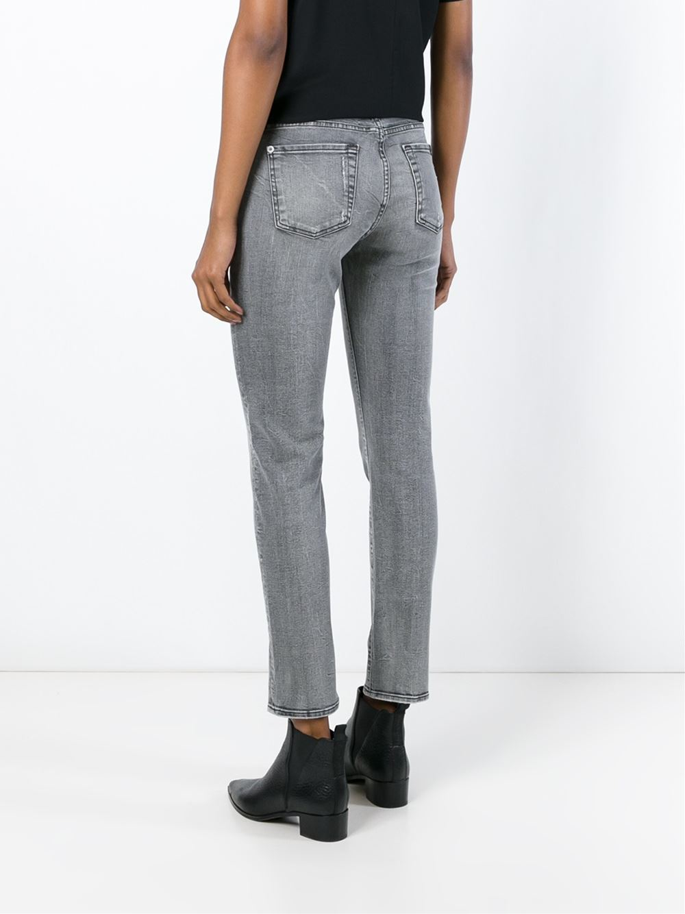 for all mankind skinny fit jeans in gray lyst. Black Bedroom Furniture Sets. Home Design Ideas