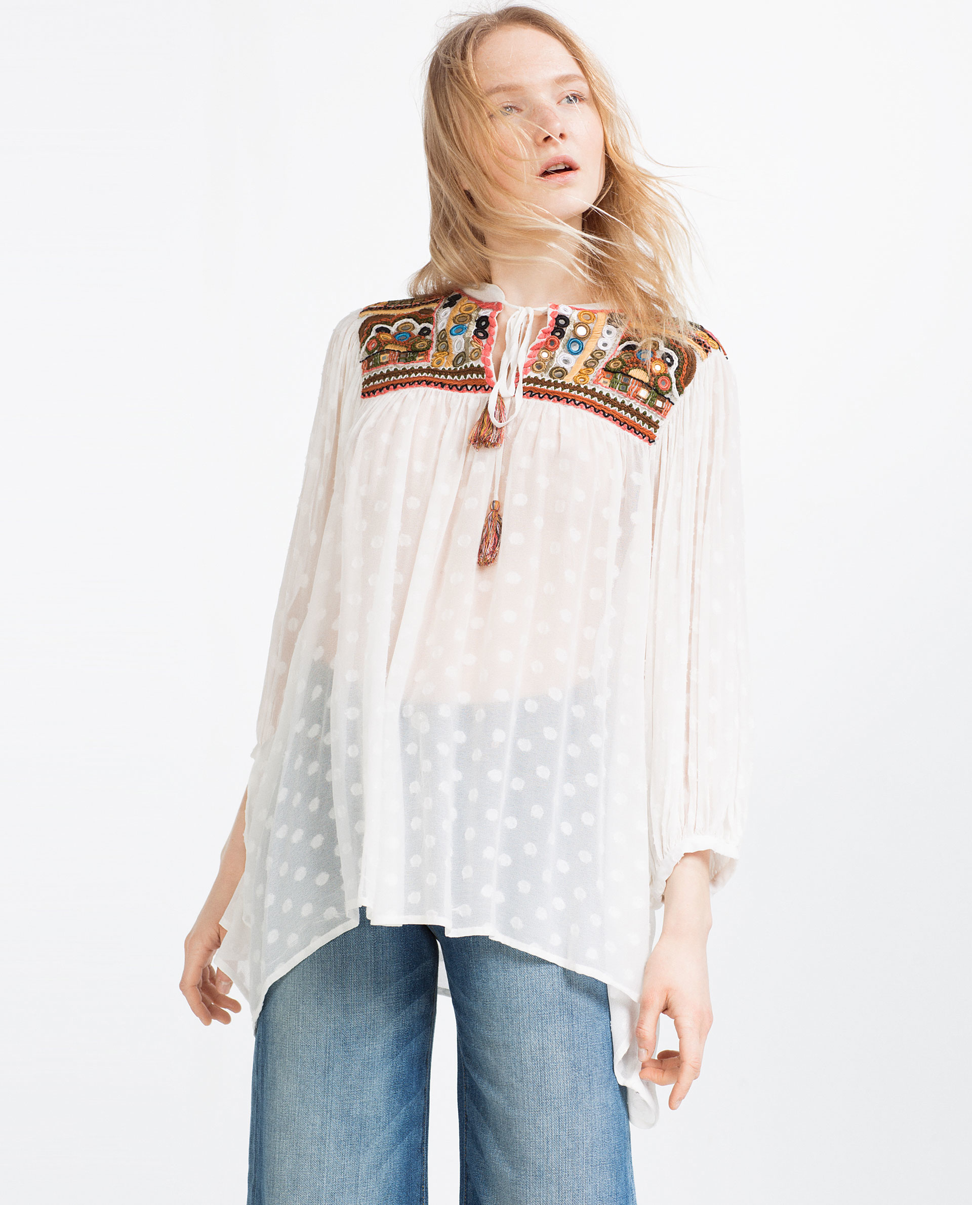 Zara Embroidered Blouse 116
