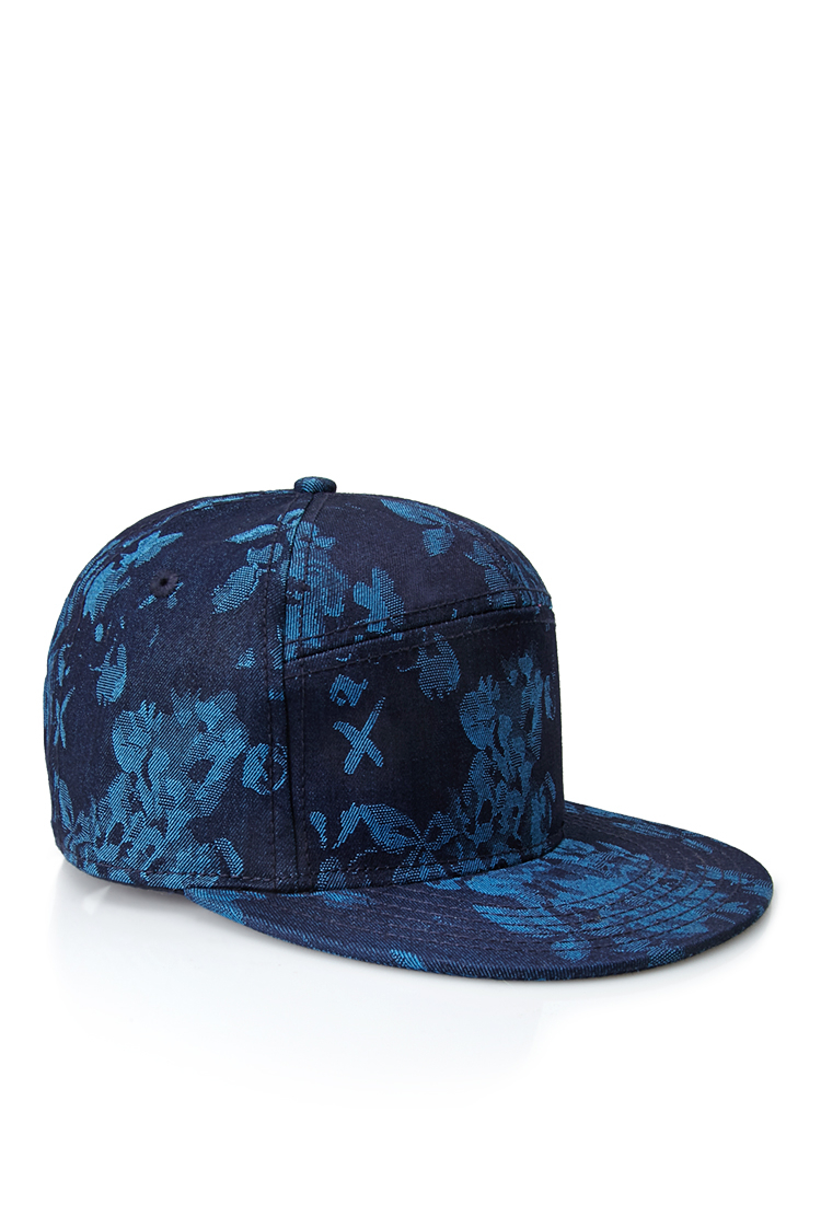 d16ca6d1eaa Lyst - Forever 21 Paneled Floral Snapback Hat in Blue for Men