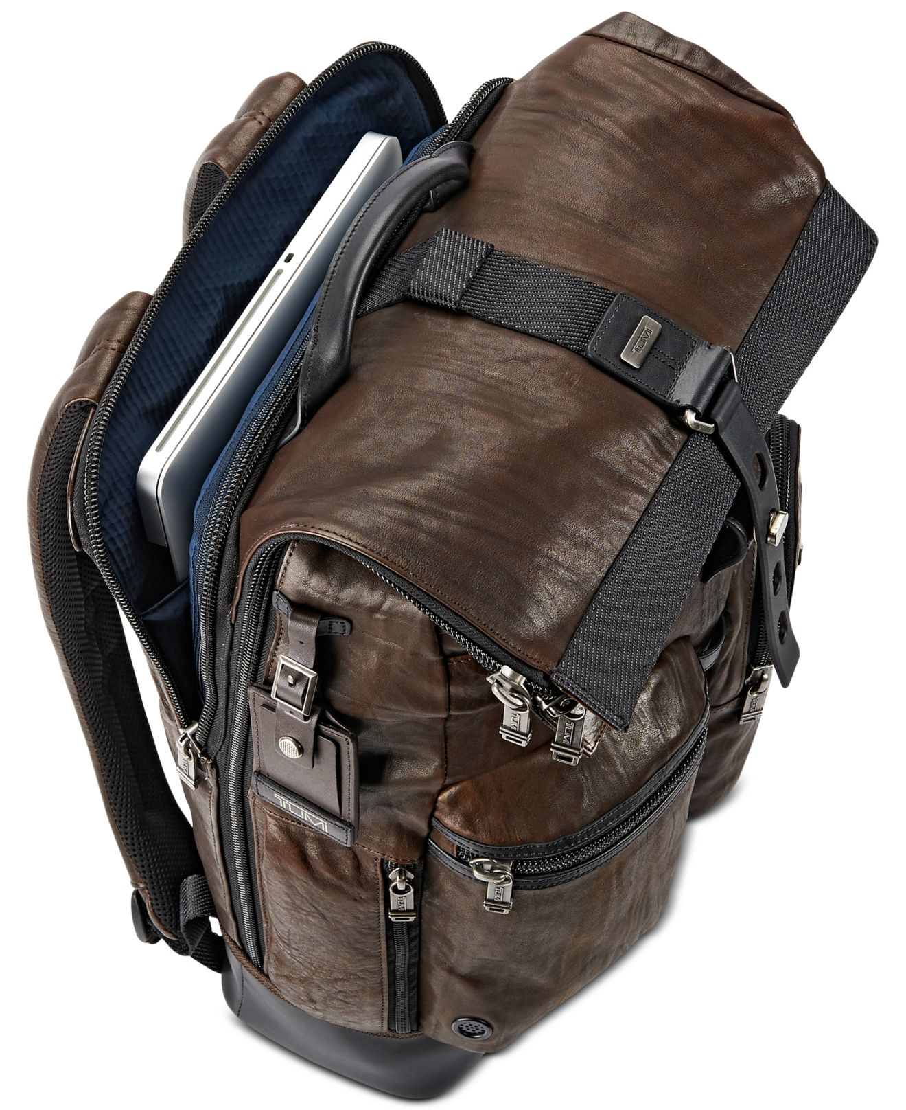 Rolling Leather Backpack