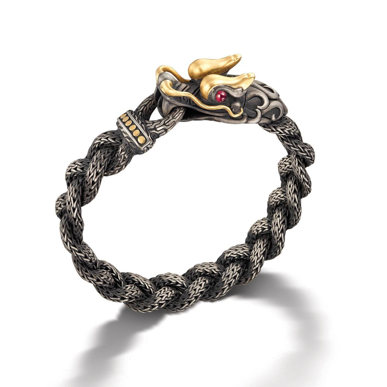 Lyst John Hardy Naga Station Bracelet In Gray For Men