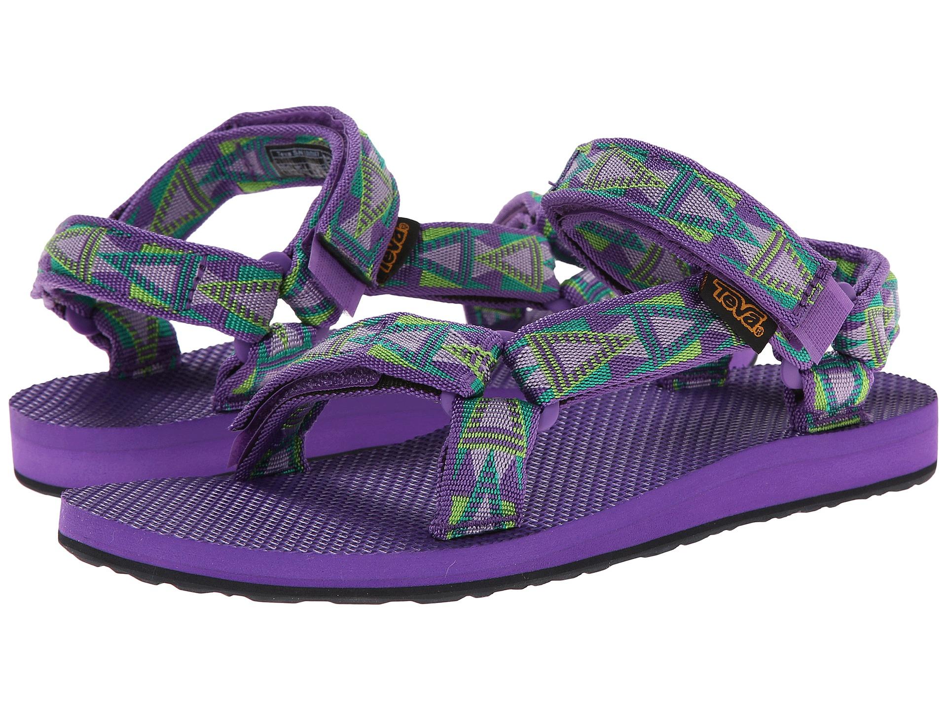 Teva Synthetic Original Universal Sea Fog Flat Sandals In