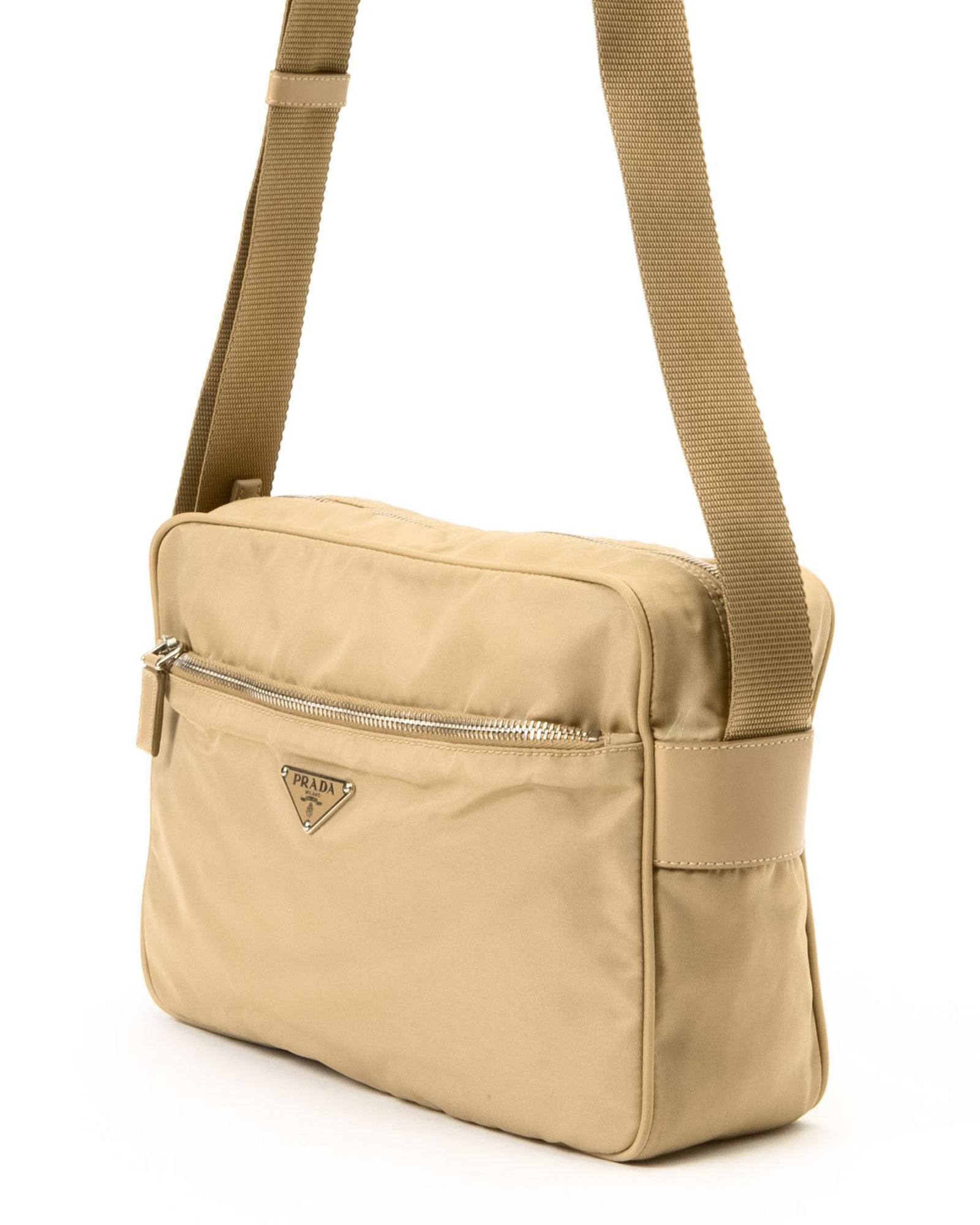 ... low price lyst prada tessuto shoulder bag vintage in natural f367c 7137f e139bfa6d033c
