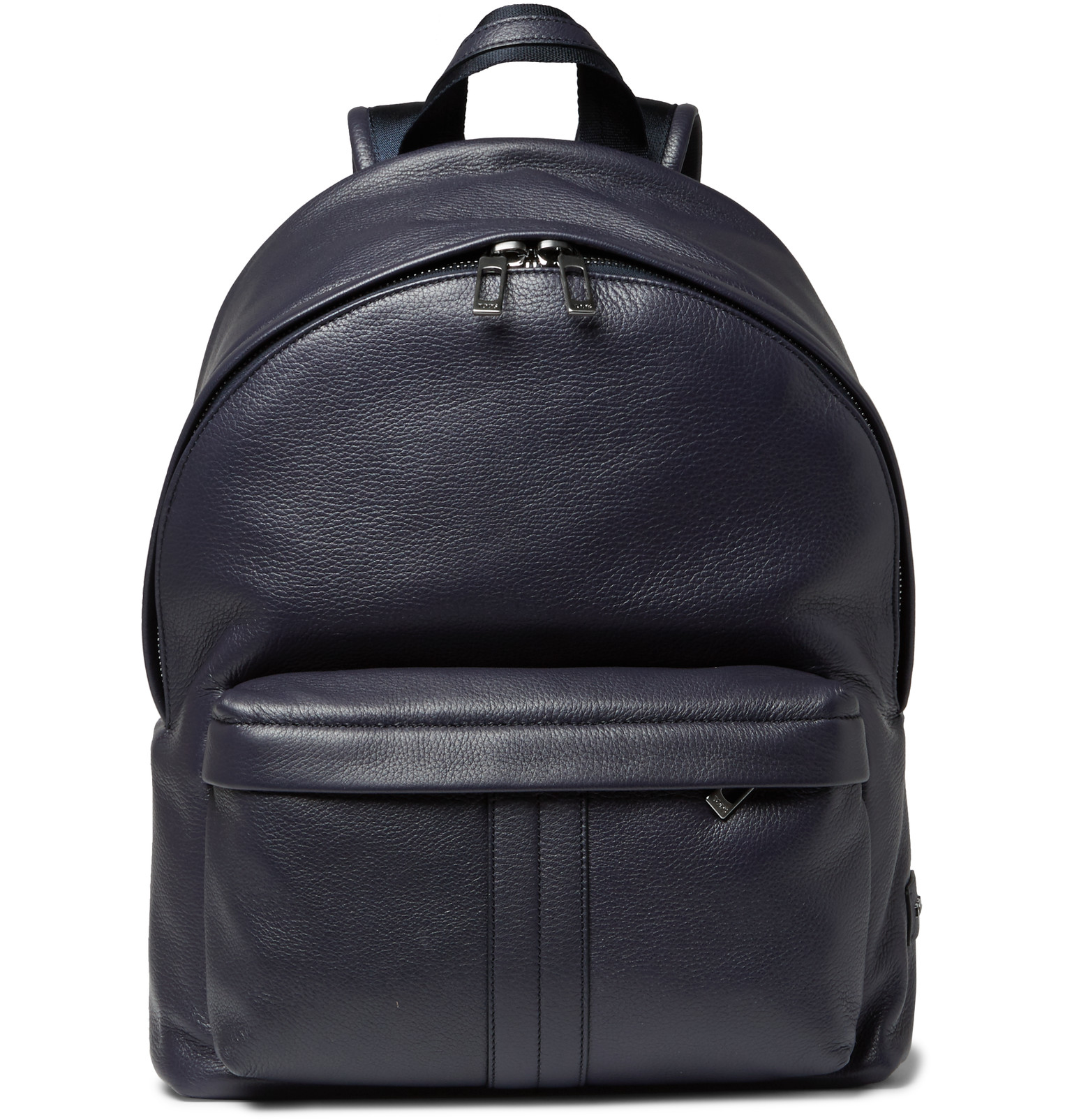 Tod's Full-grain Leather Backpack in Blue for Men | Lyst