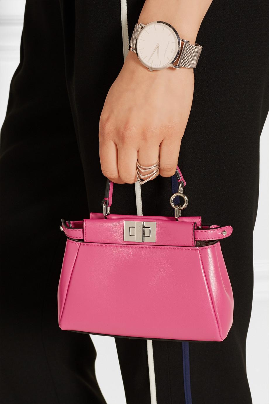 cf7380fd92 ... discount code for lyst fendi peekaboo micro leather shoulder bag in  pink f489d 954e5