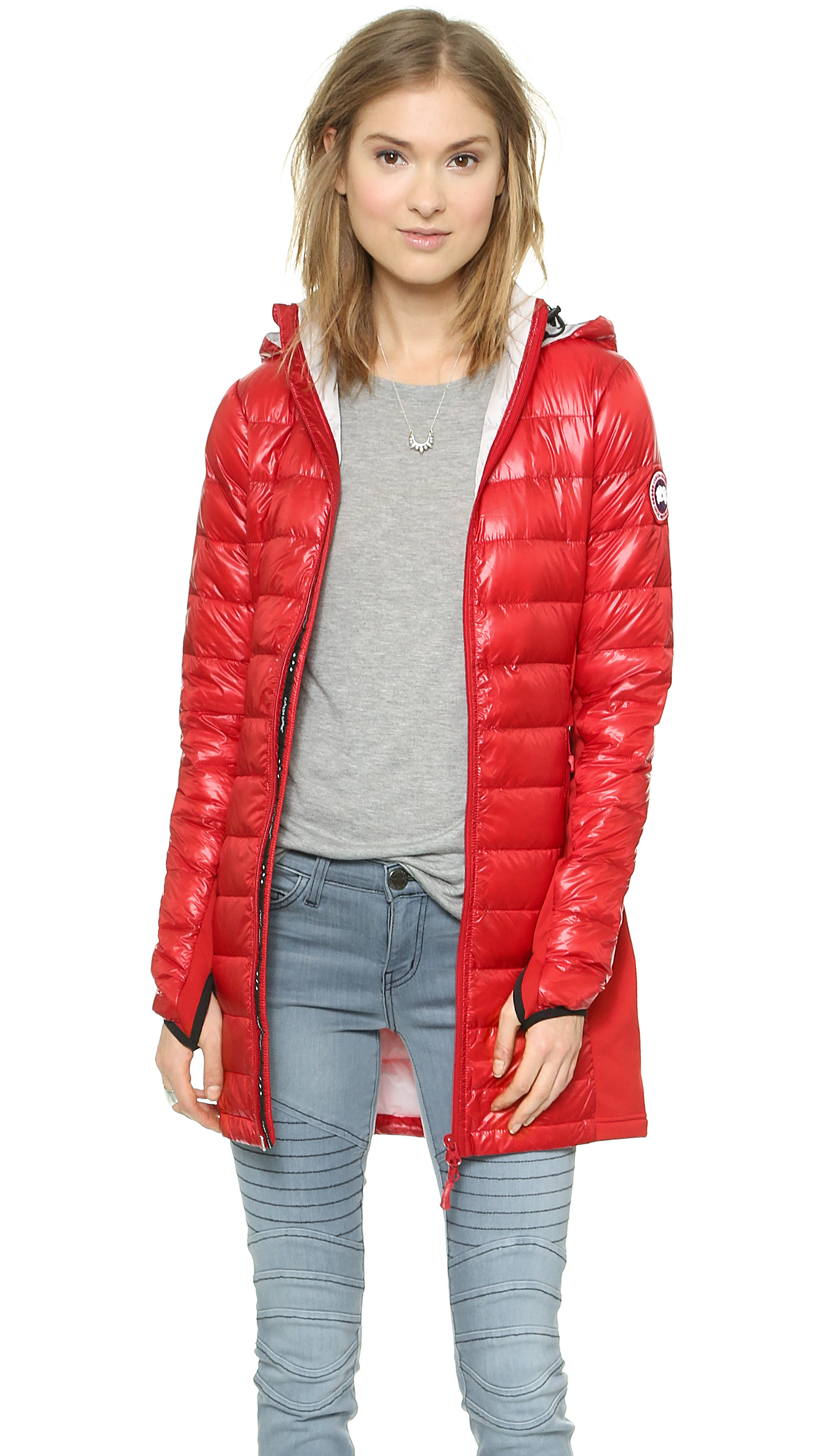 canada goose red womens coat