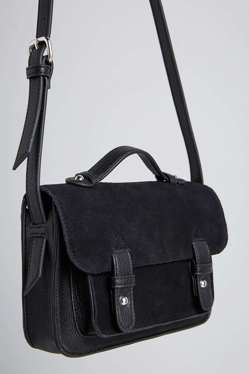 Bdg Mini Suede Messenger Bag in Black | Lyst