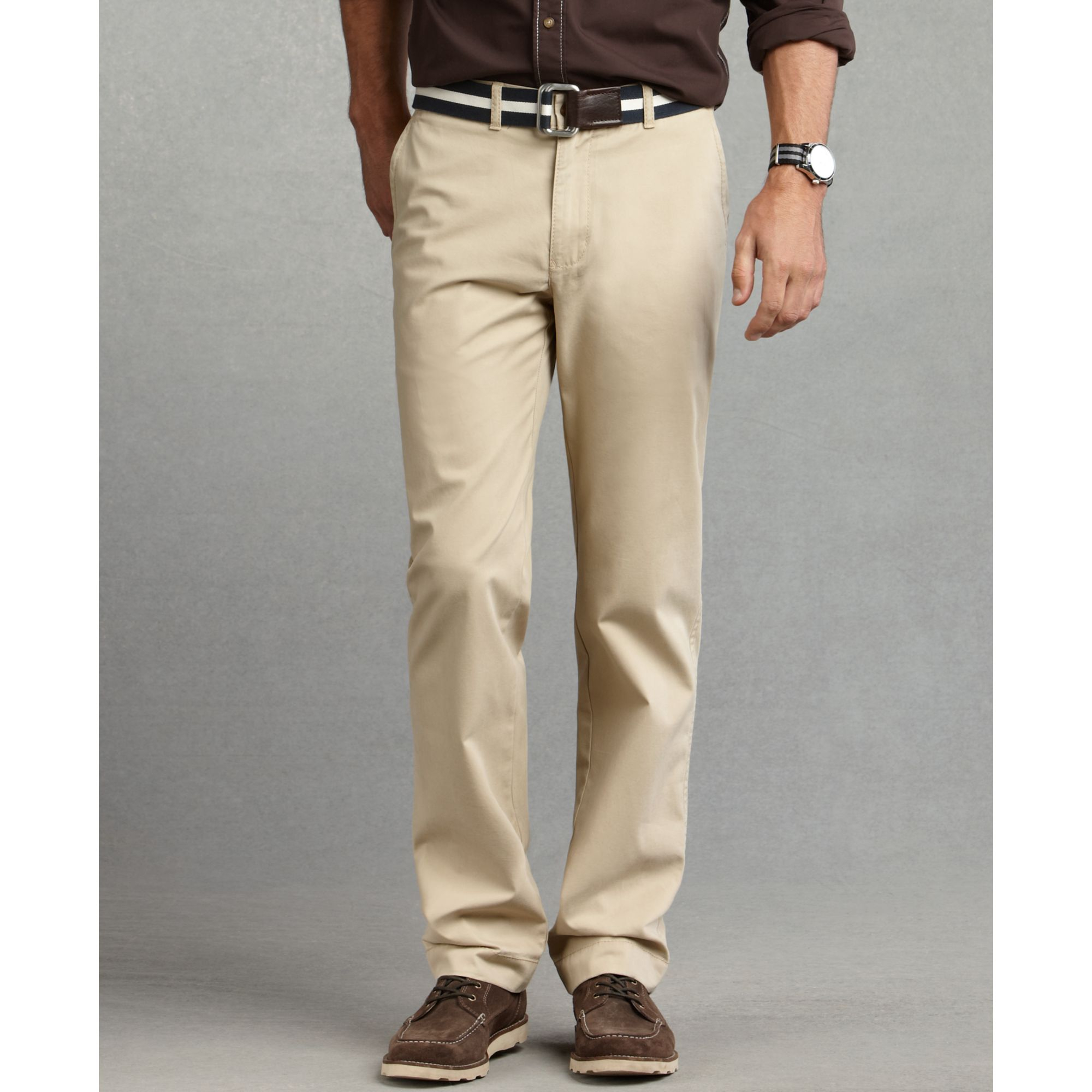 7b1c82ba Tommy Hilfiger Graduate Slim Fit Chinos in Natural for Men - Lyst