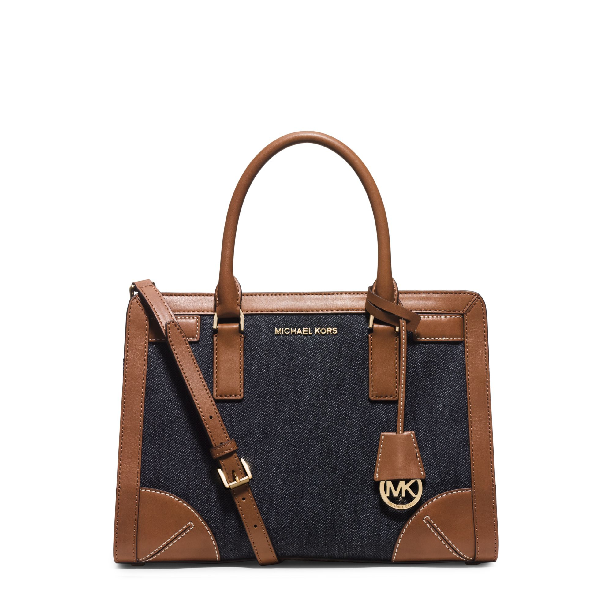 7dfe8ec4937e michael kors woven denim handbag riley bag uk - Marwood ...
