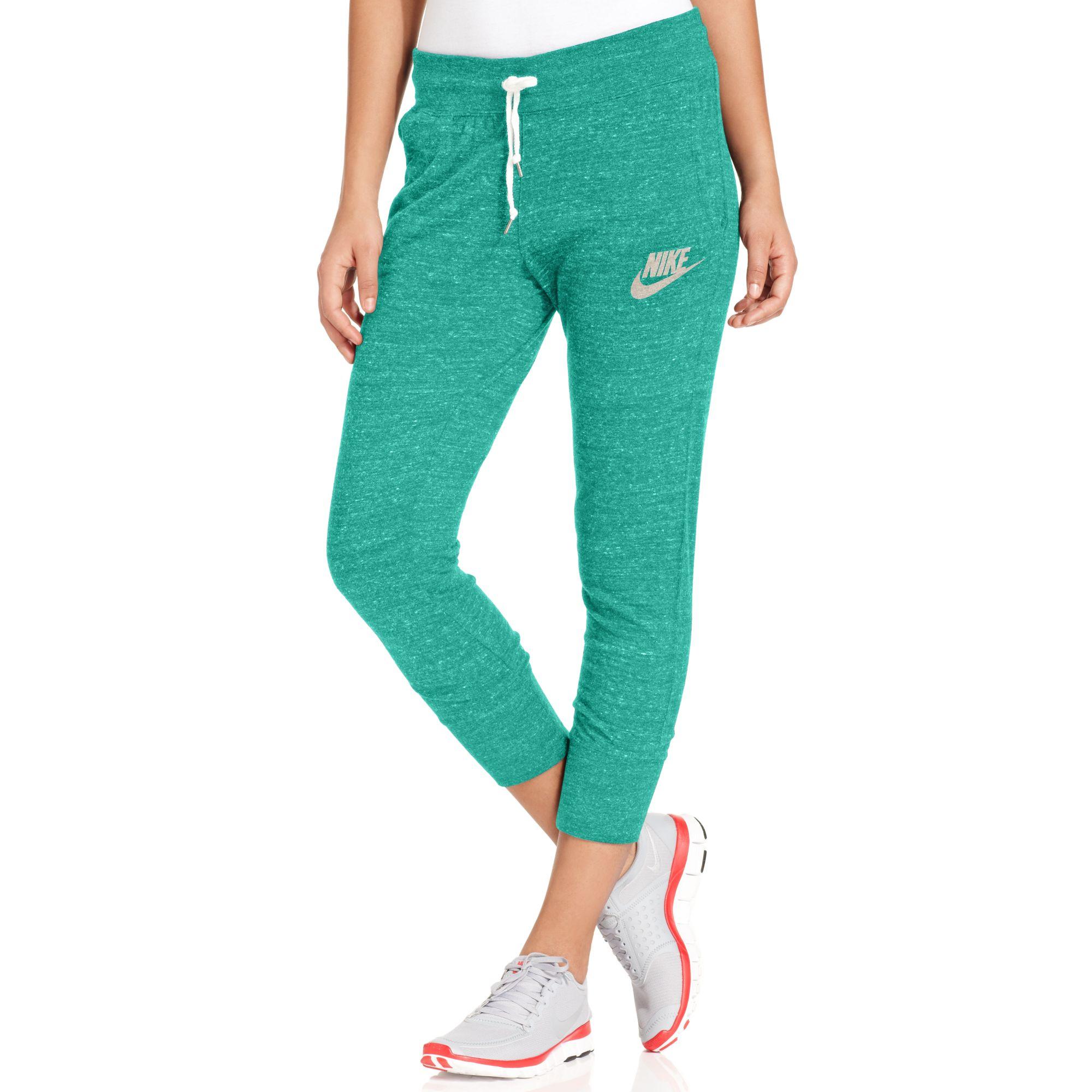 Nike Gym Vintage Capri Sweatpants in Green | Lyst