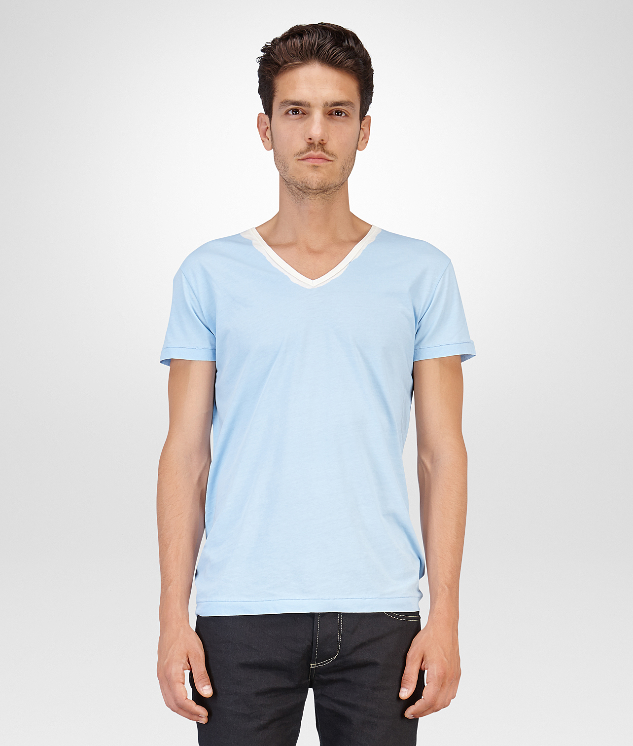 Lyst bottega veneta ciel garment dyed organic cotton t for Bottega veneta t shirt