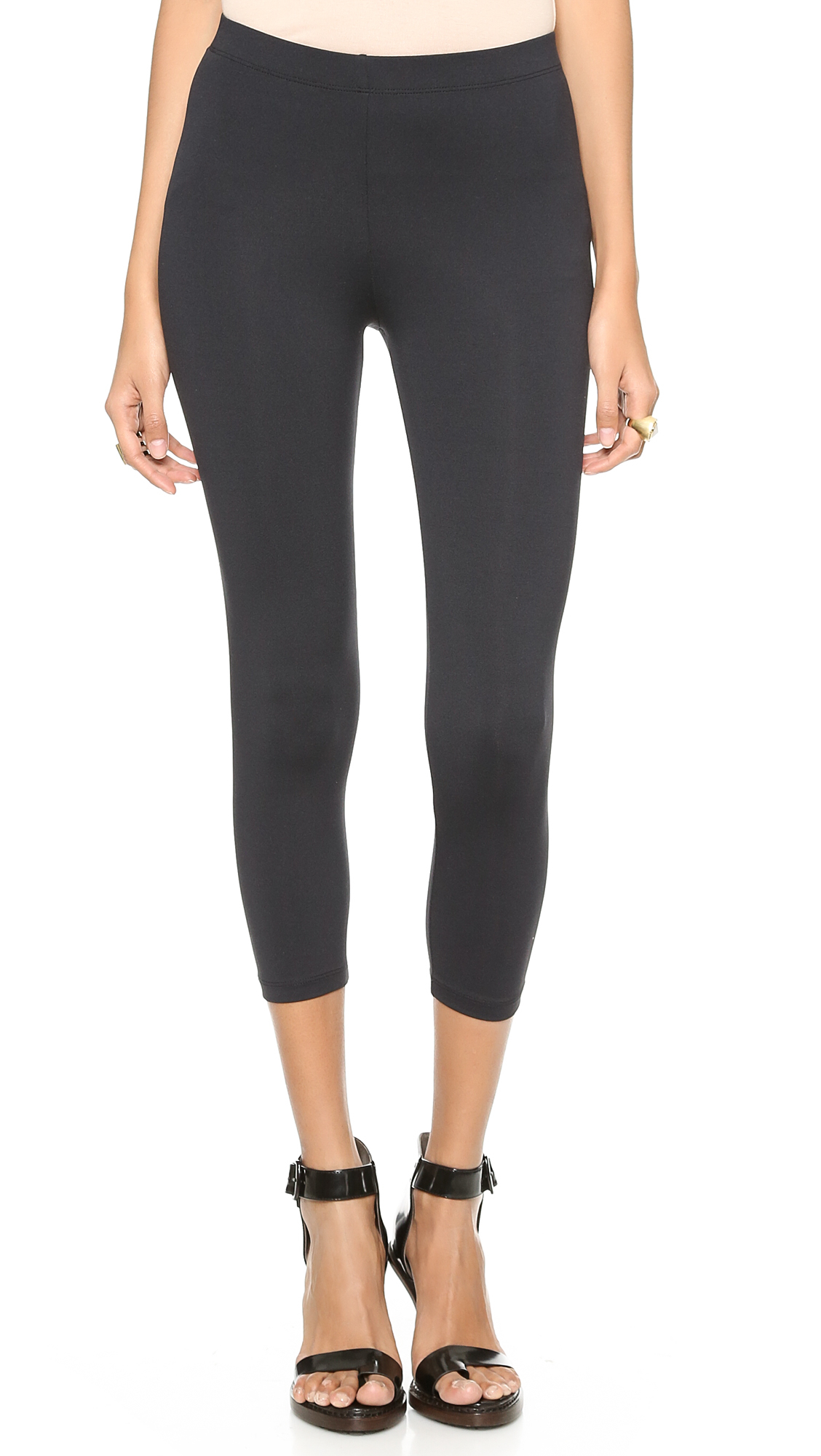 Shop black capri leggings at Neiman Marcus, where you will find free shipping on the latest in fashion from top designers.