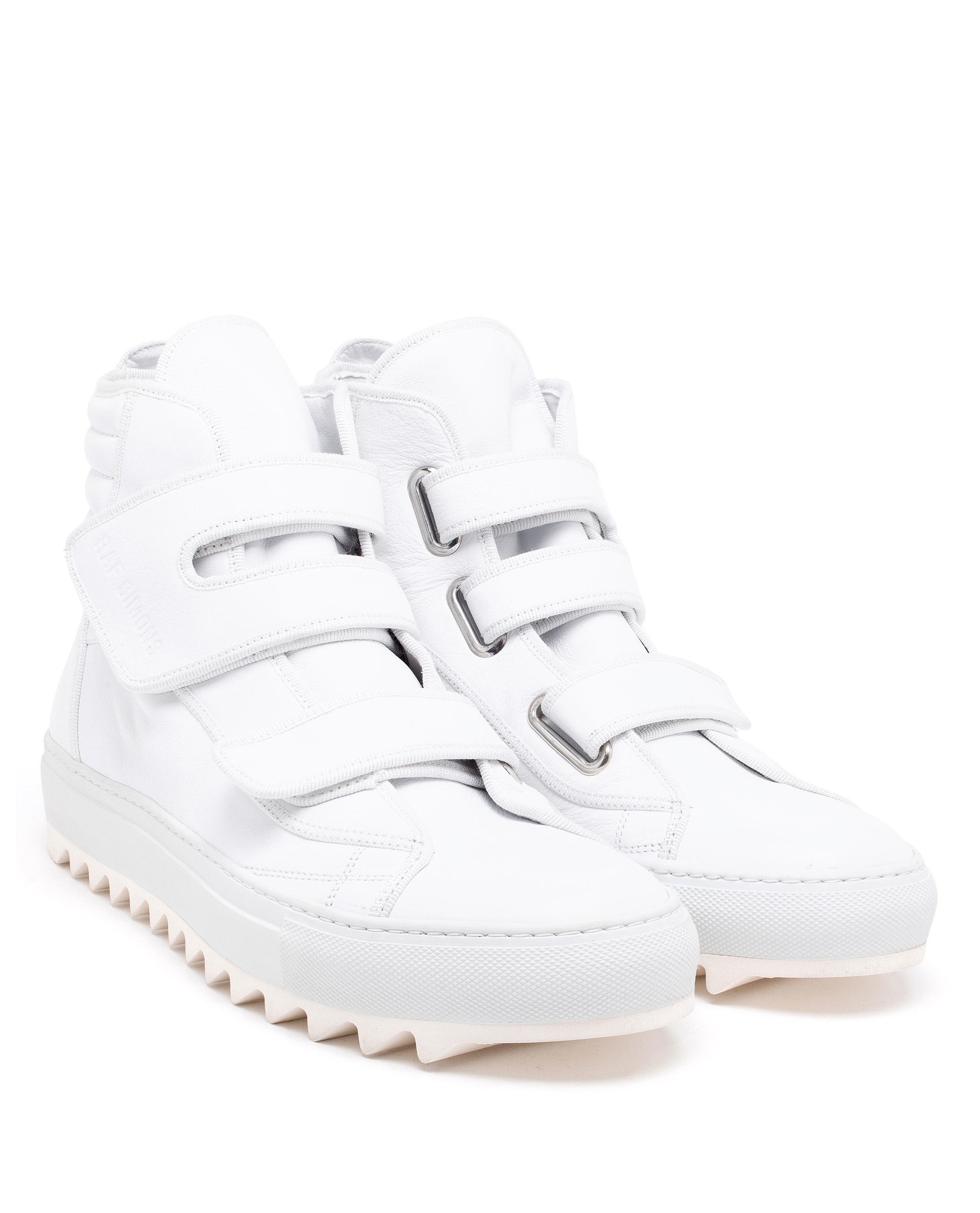 9c38125887c6 Lyst - Raf Simons White Leather High-tops in White for Men