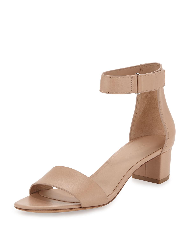 c28c08decf7 Lyst - Vince Rita Leather Block-Heel Sandal in Brown