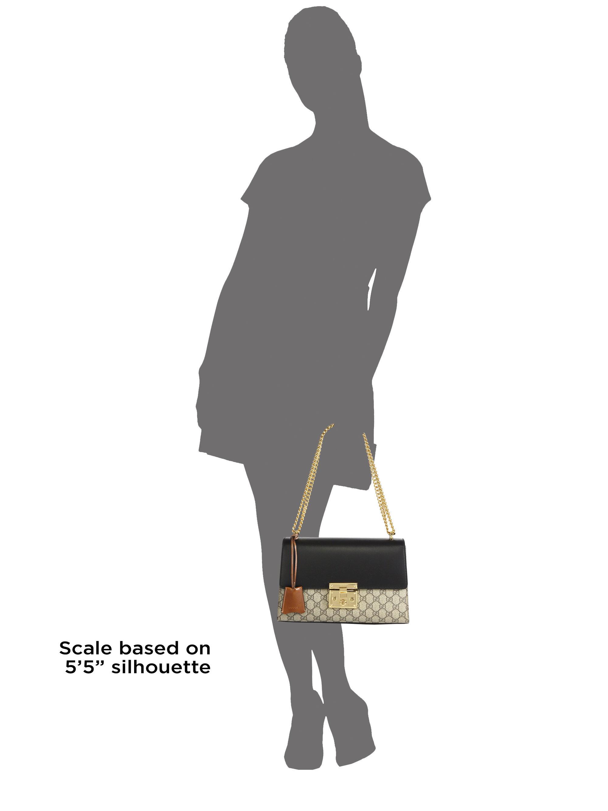 ccaae1e138e1 Lyst - Gucci Padlock Gg Supreme Medium Shoulder Bag in Black