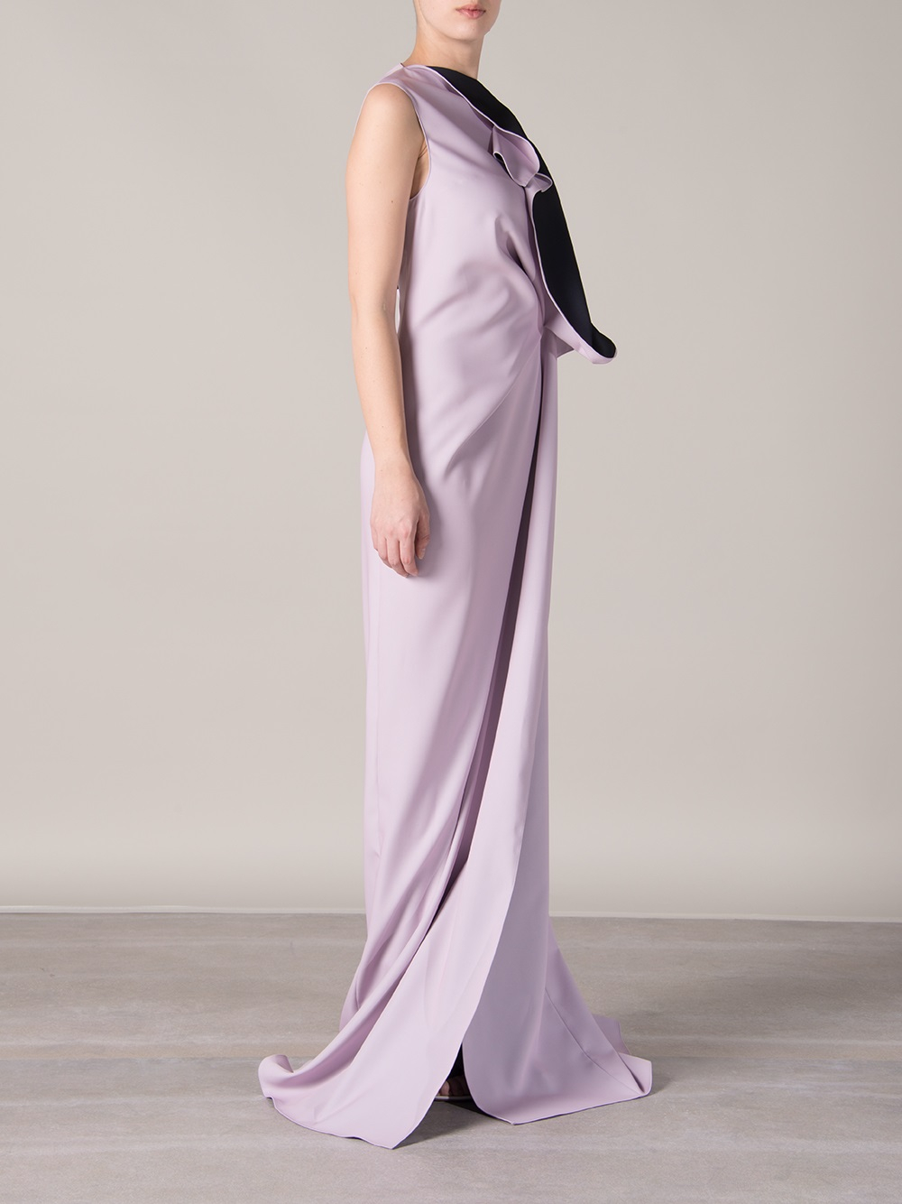 Lyst Maison Rabih Kayrouz Ruffled Evening Dress In Pink