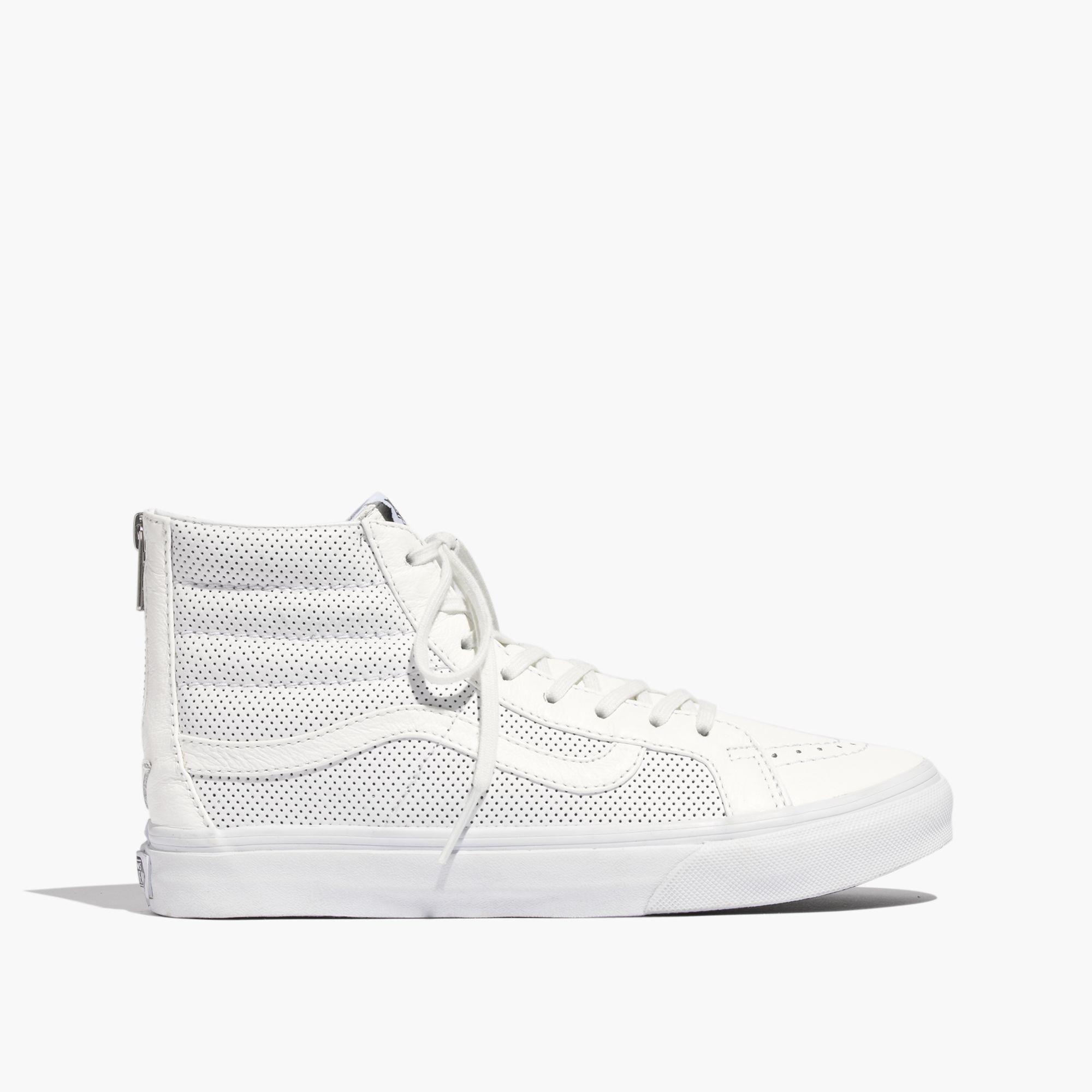 9b93571a0aadc0 Madewell Vans® Sk8-Hi Slim Zip High-Top Sneakers In Perforated ...