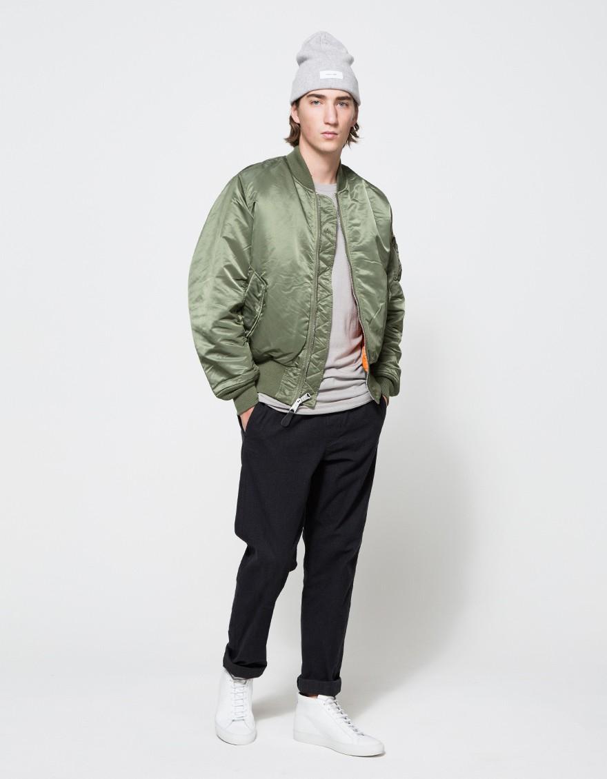 alpha industries ma 1 flight jacket in sage in green for. Black Bedroom Furniture Sets. Home Design Ideas