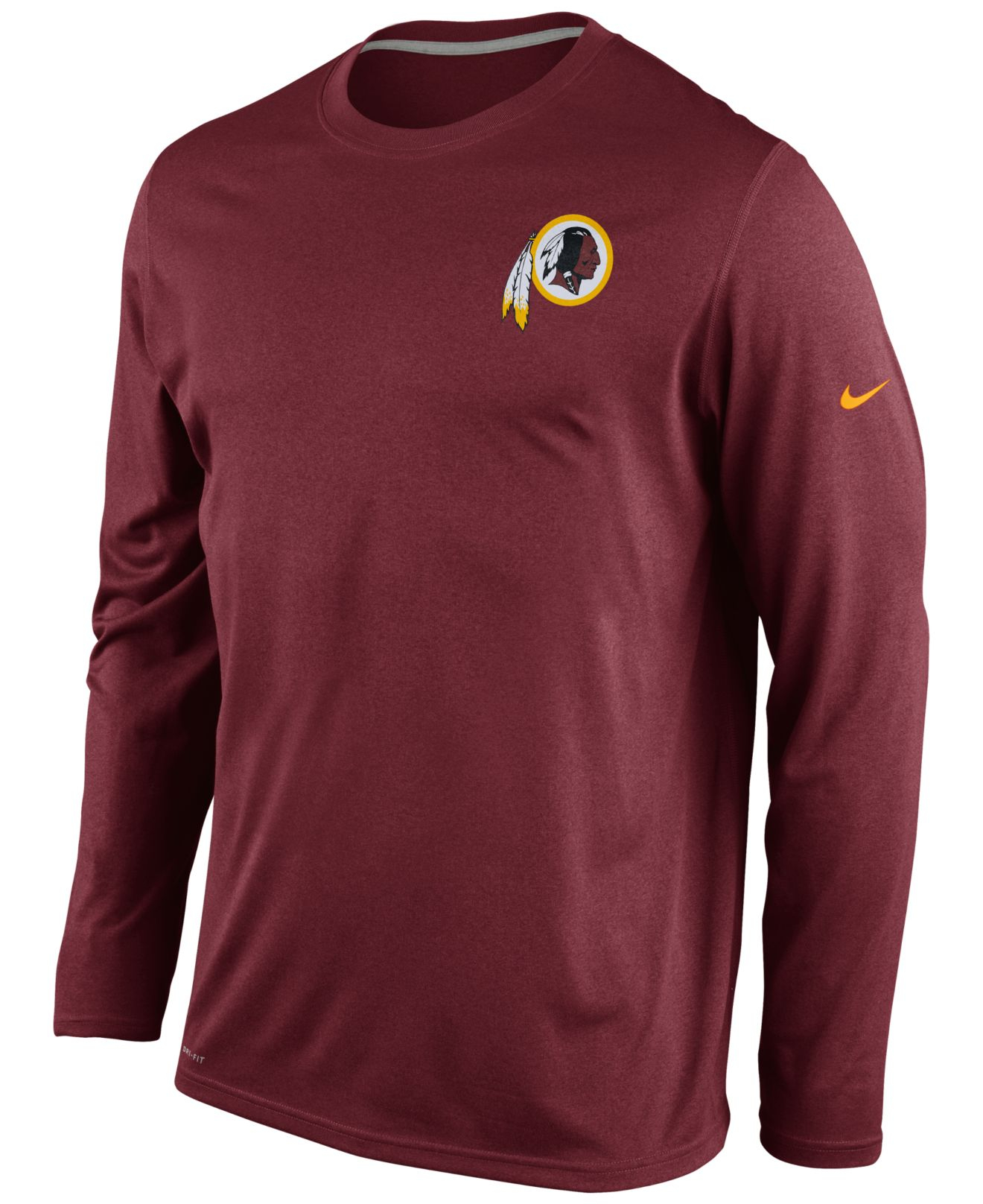Nike Men 39 S Long Sleeve Washington Redskins Dri Fit T Shirt