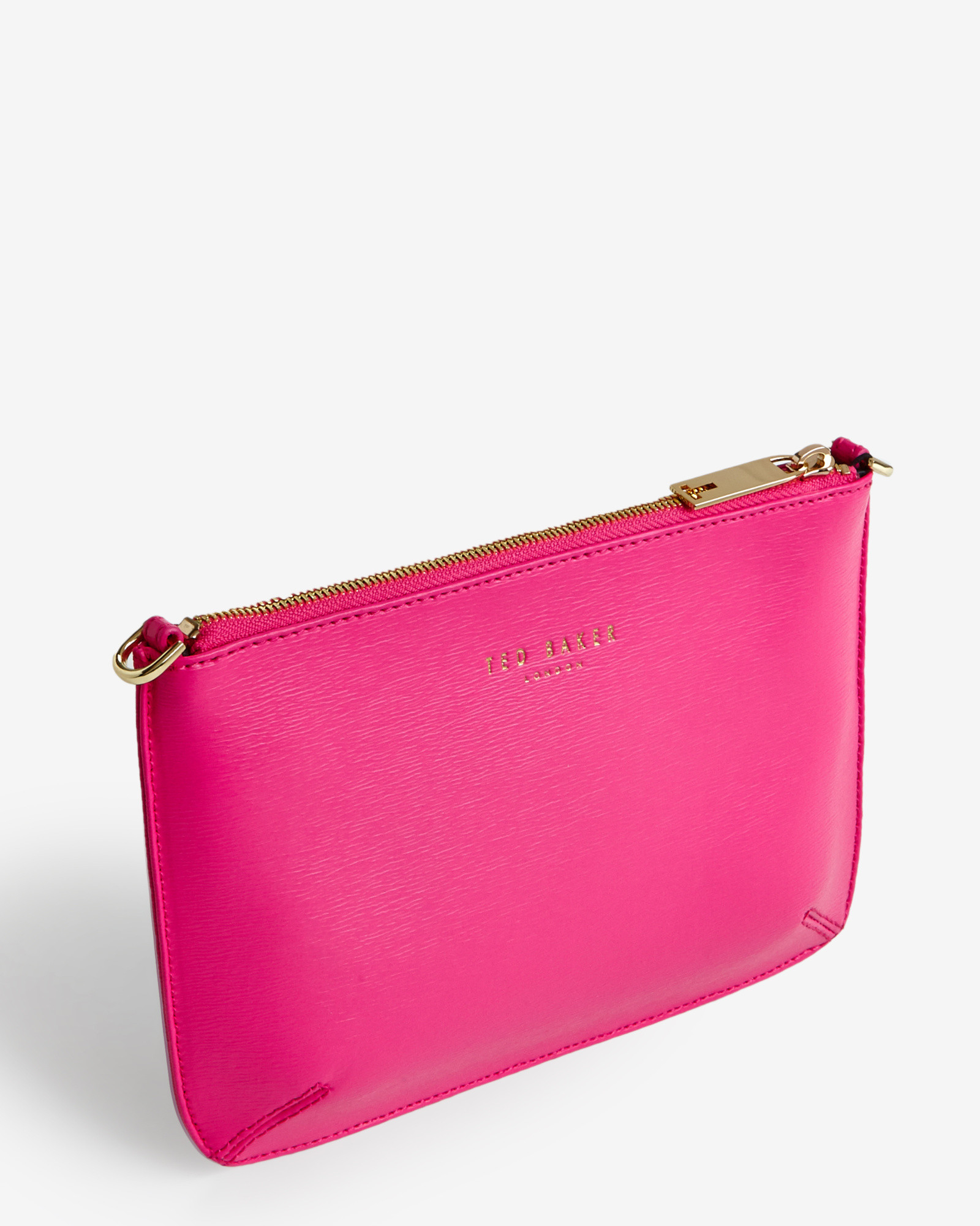 3aceb8f866 Ted Baker Crosshatch Clutch Bag in Pink - Lyst