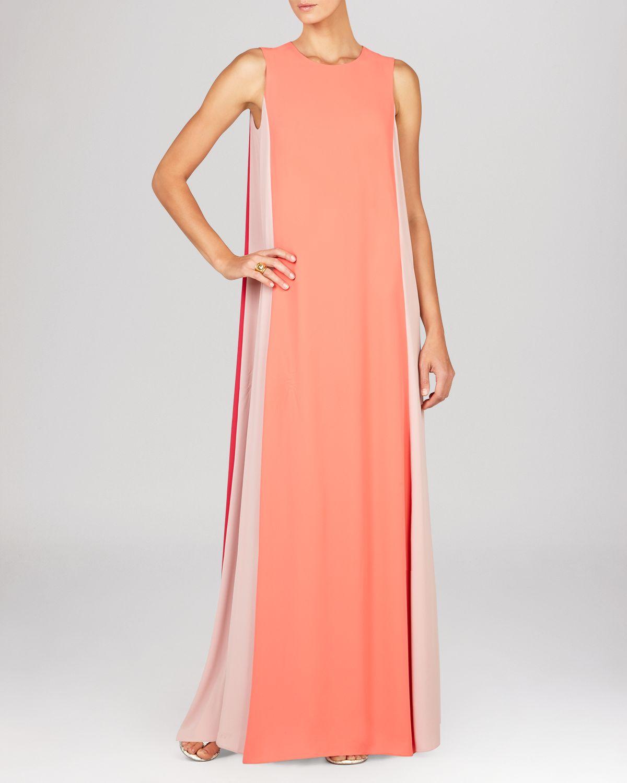 Bcbg orange color block dress