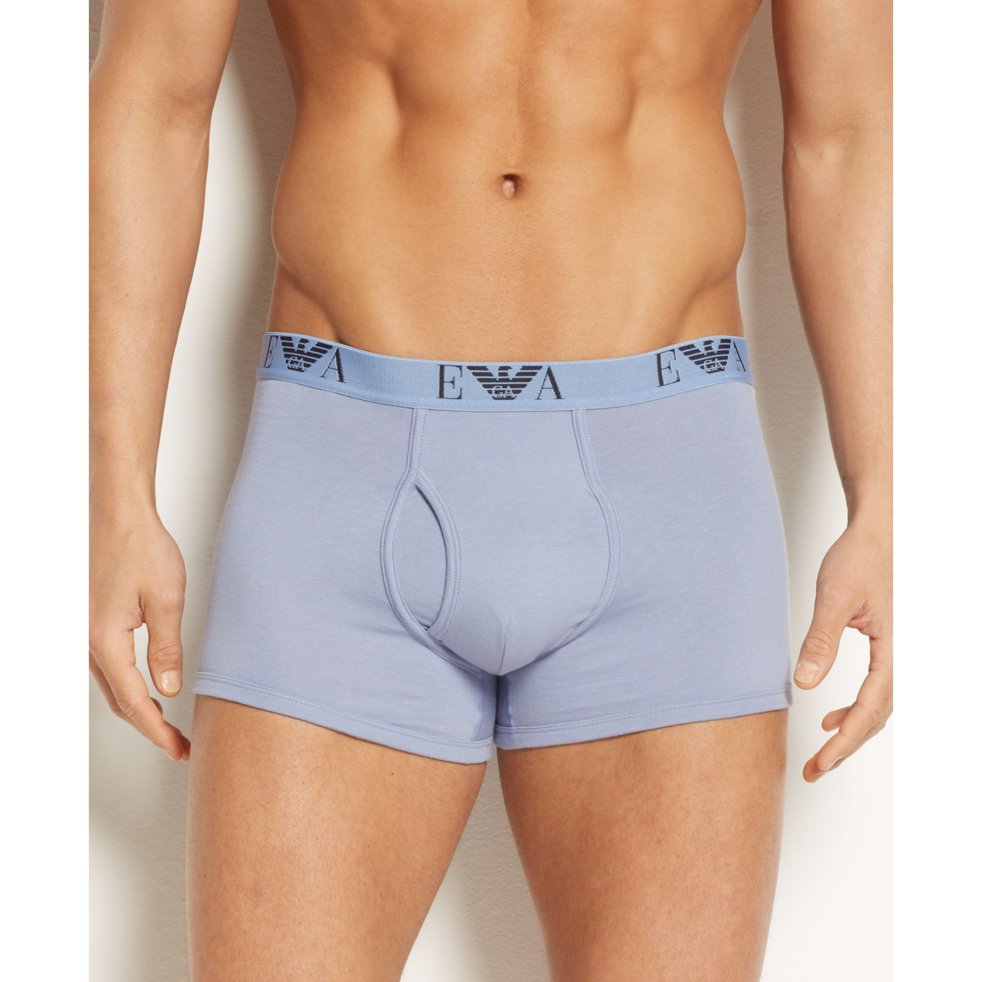 Lyst - Emporio Armani Mens Jersey Cotton Boxer Brief 3 Pack in Blue ... d1f282a3217