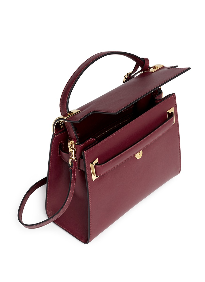 Lyst Valentino My Rockstud Small Top Handle Leather