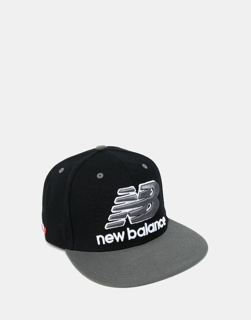 147bd534d90 Lyst - New Balance Courtside Snapback Cap in Black for Men