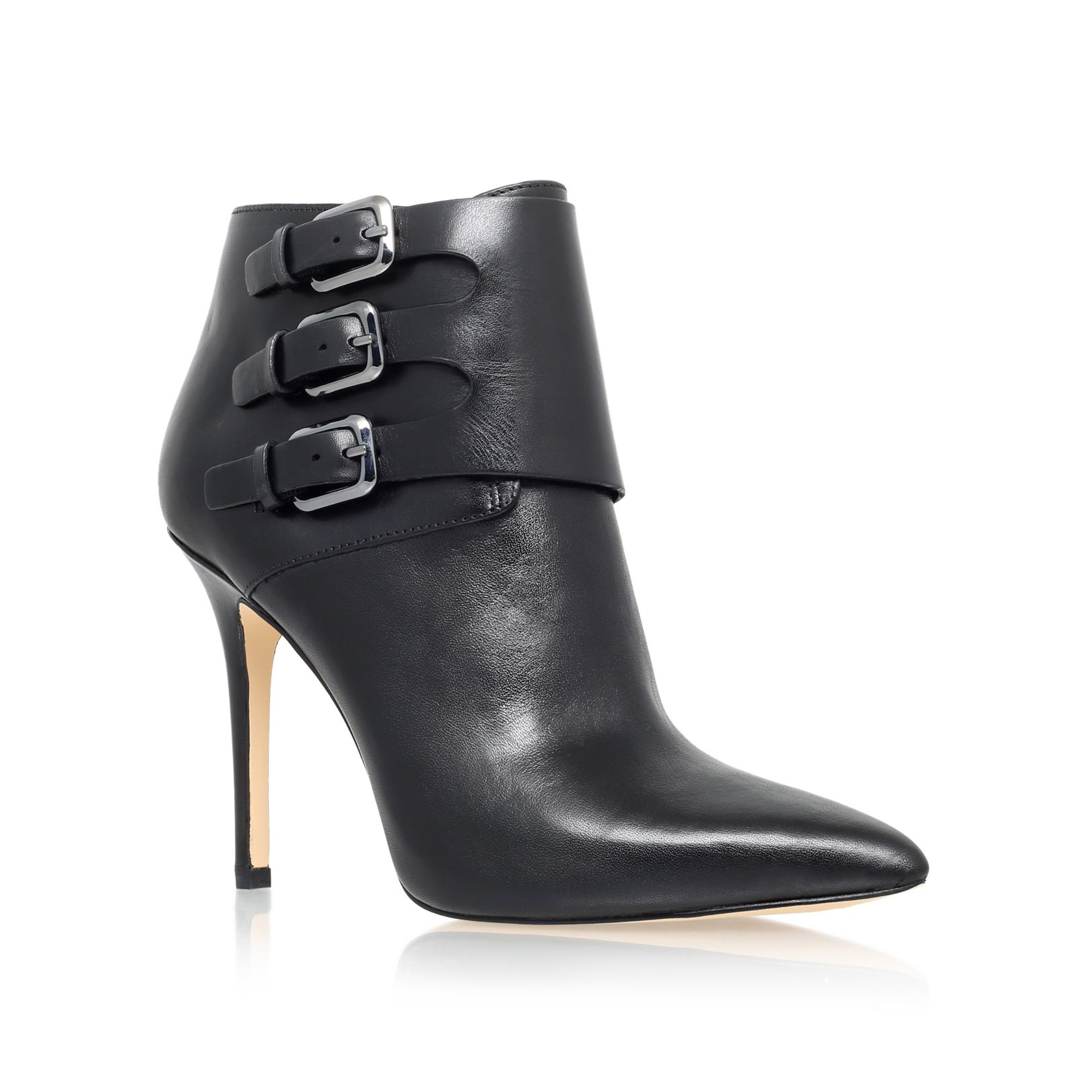 michael kors prudence high heel ankle boots in black lyst