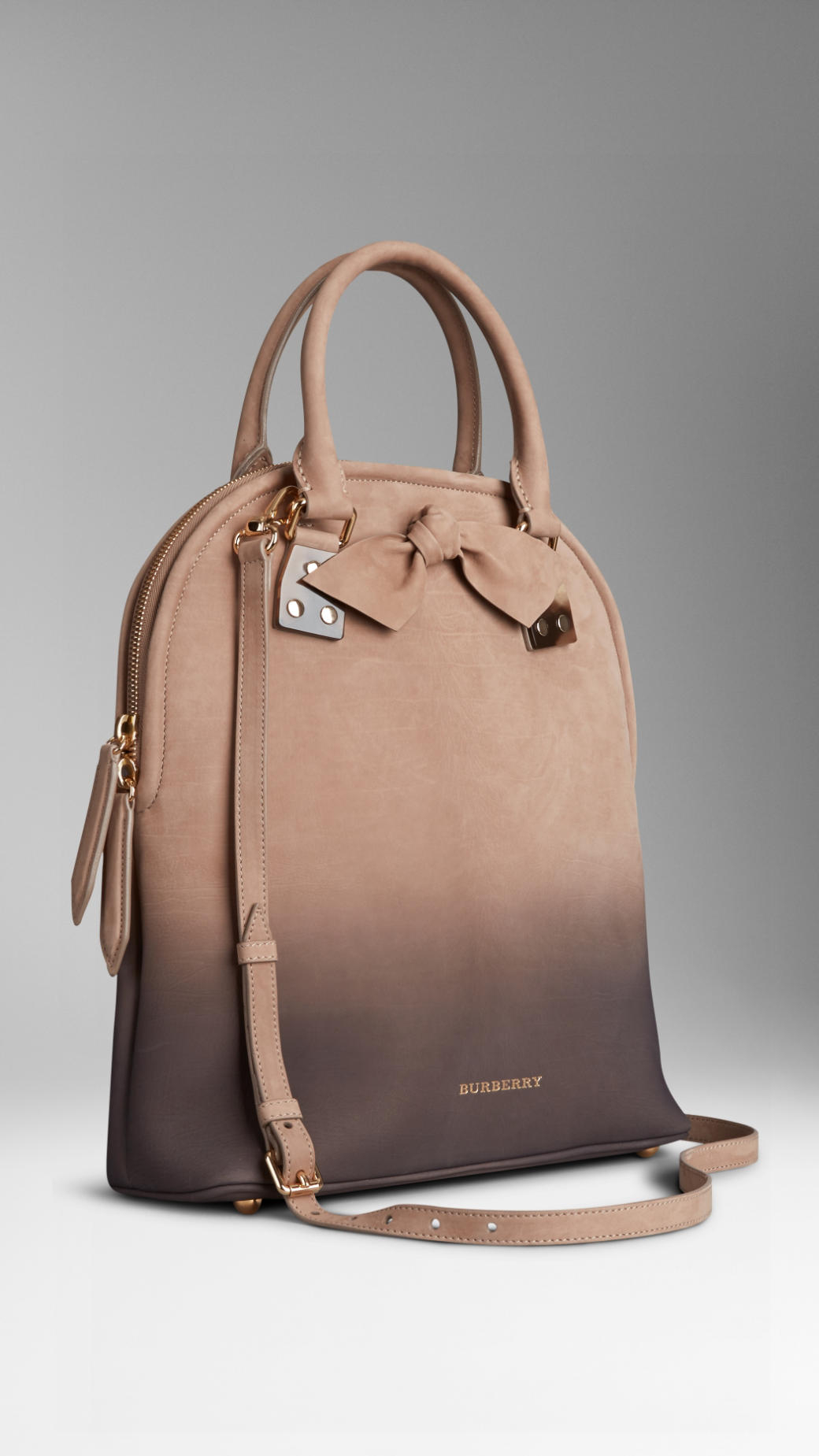 Lyst - Burberry The Bloomsbury In Dégradé Nubuck in Natural