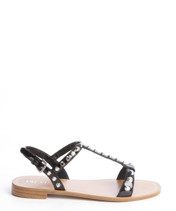 studded strap sandals - Black Prada LXxRL0Iw