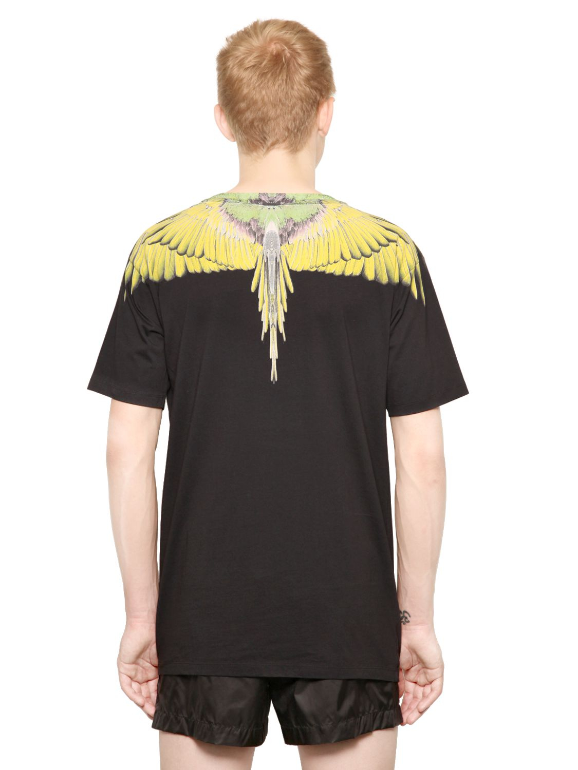 Lyst Marcelo Burlon Cotton Jersey Feather T Shirt In