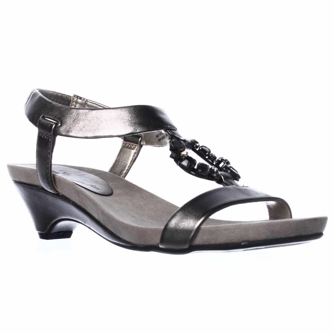 Anne Klein Tycho Wedge Sandals In Metallic Lyst