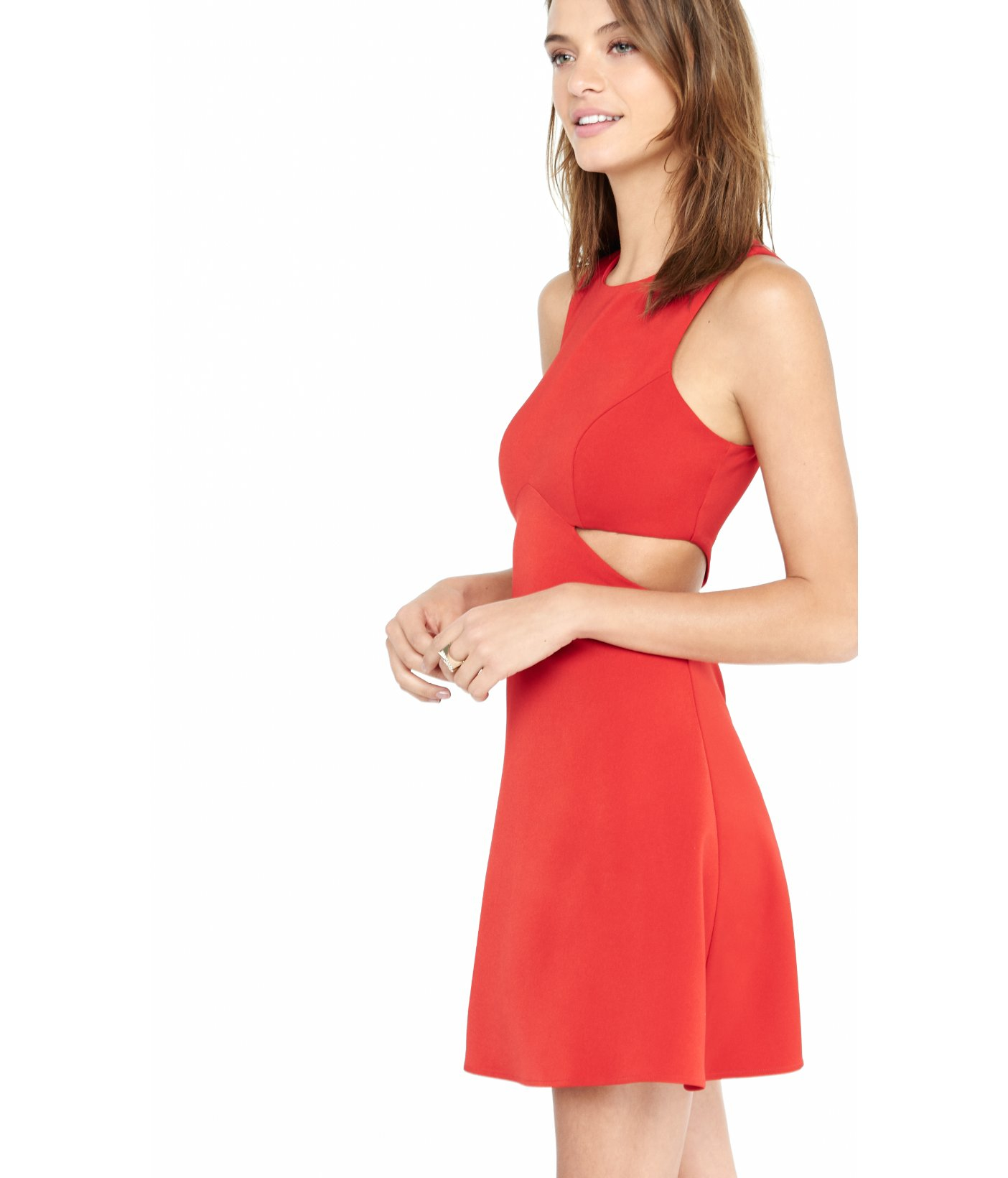 Images of Red Cut Out Dress - Reikian