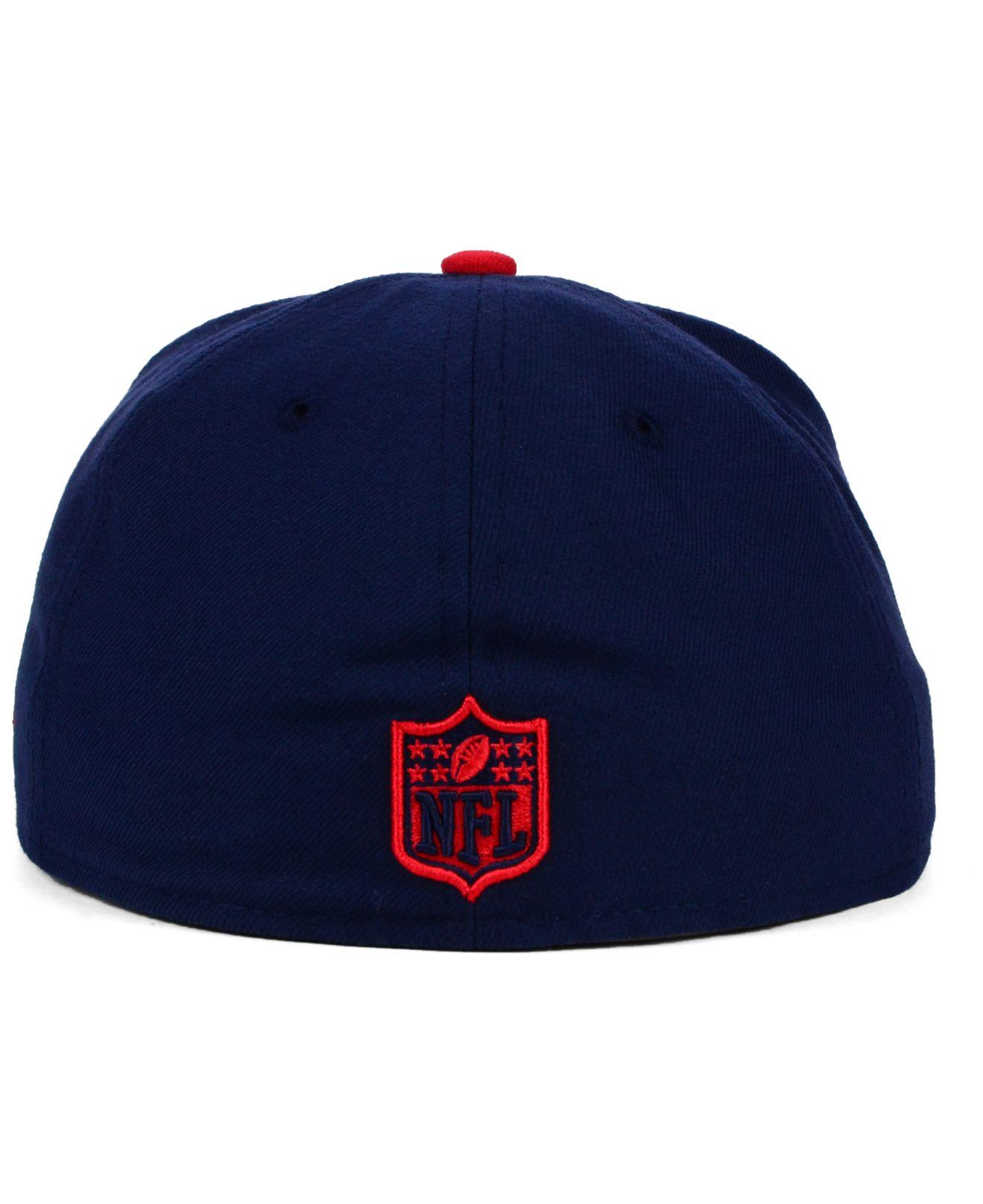 Lyst Ktz New England Patriots Visor Stripe 59fifty Cap In Blue For Men