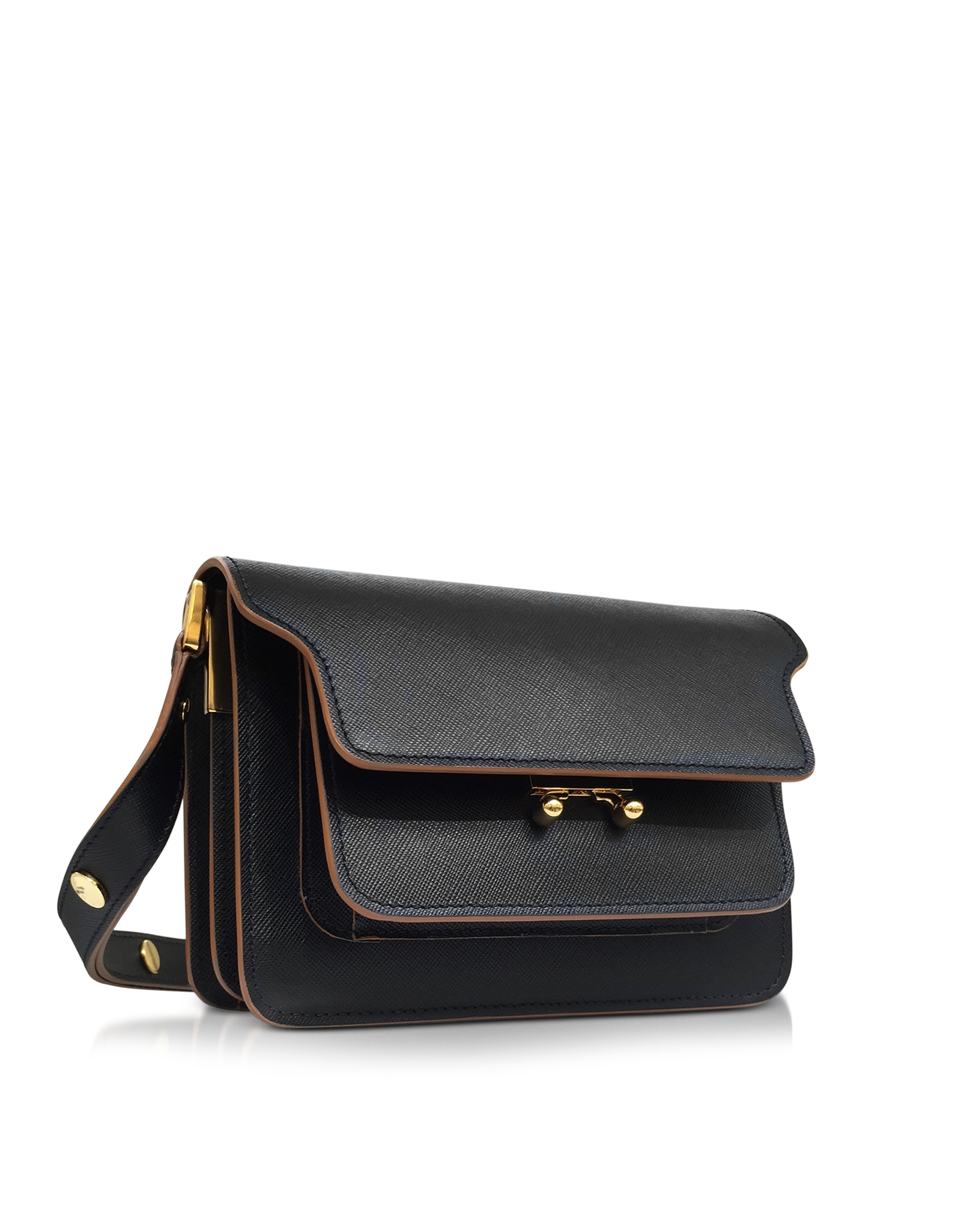 Mini Trunk Bag in Black Matte Calfskin Marni Free Shipping Professional Buy Authentic Online Hot Sale neAMt7rv